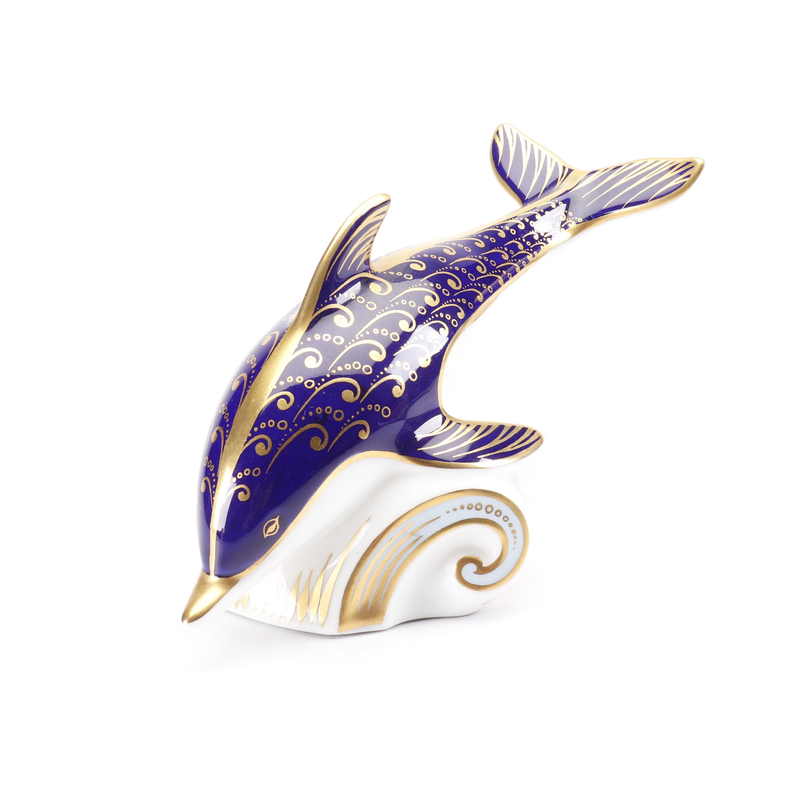 Royal Crown Derby Bone China Dolphin