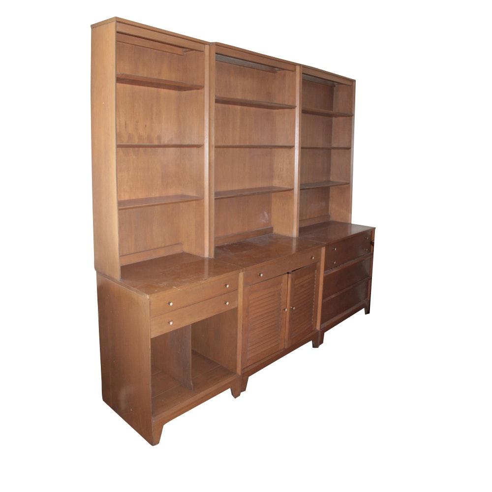 Mid Century Birchcraft by Baumritter Modular Bookcases