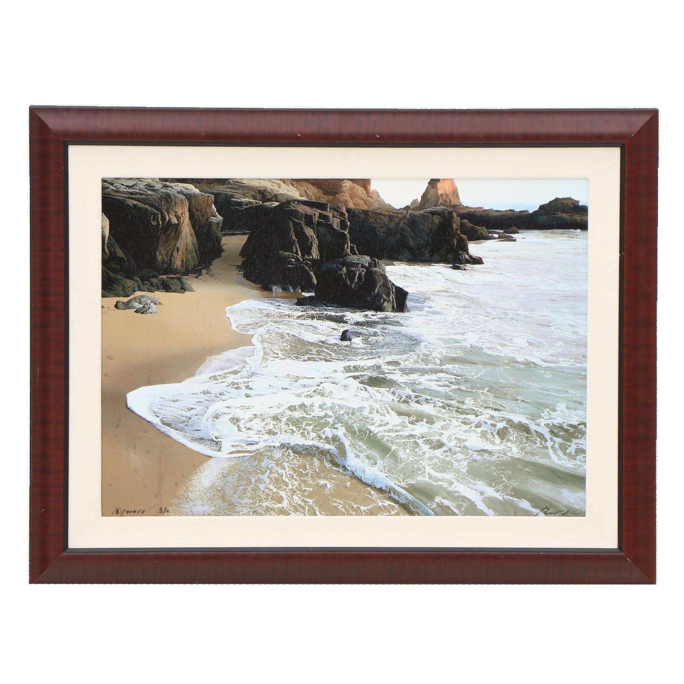 Ruo Li Giclee Print of Coastal Landscape Painting