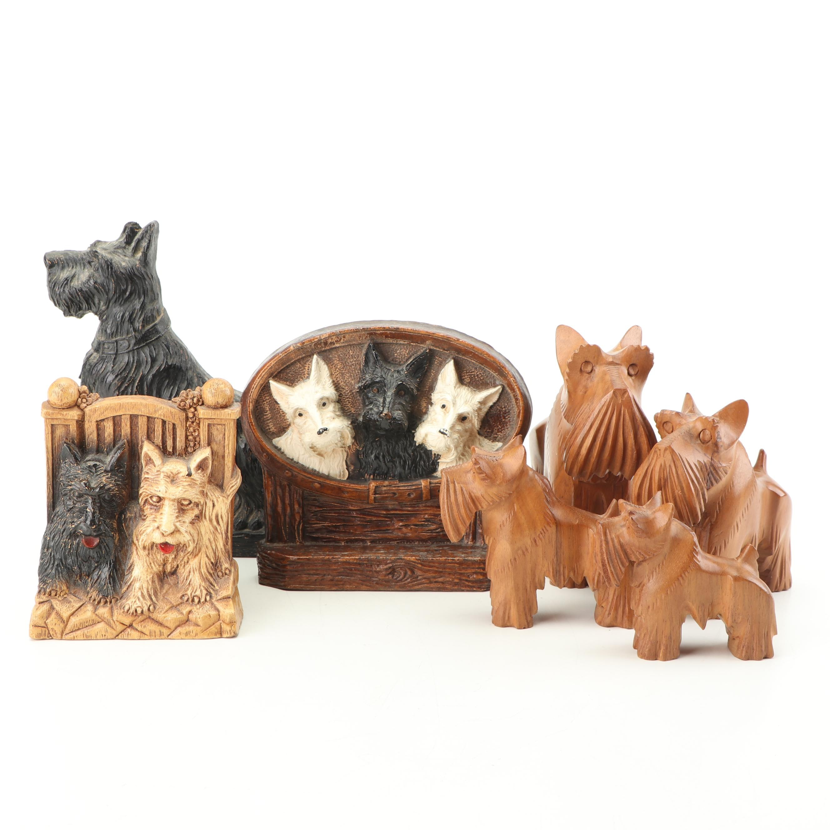 Vintage Scottish Terrier Figurines and Decor