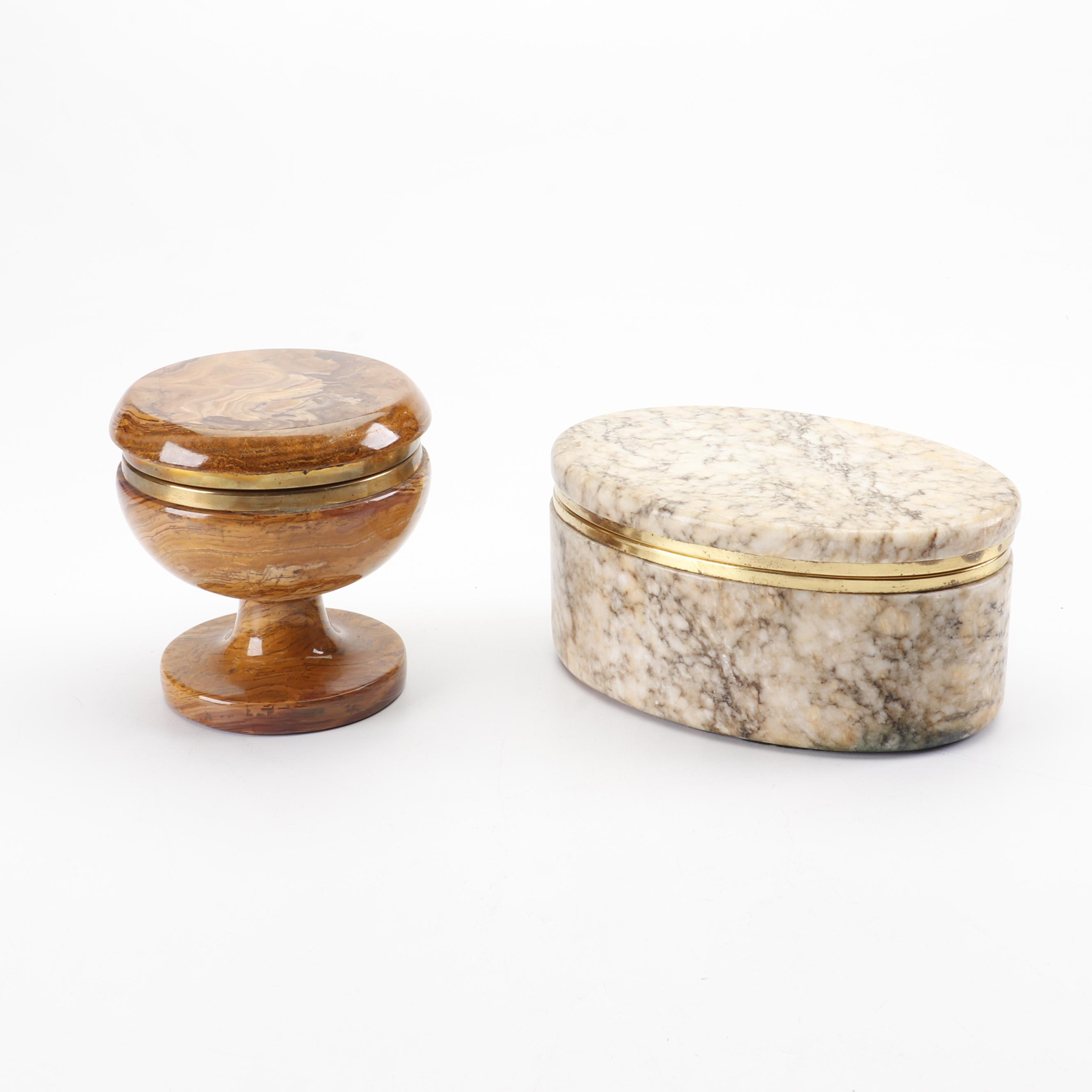 Agate Jar and Granite Box