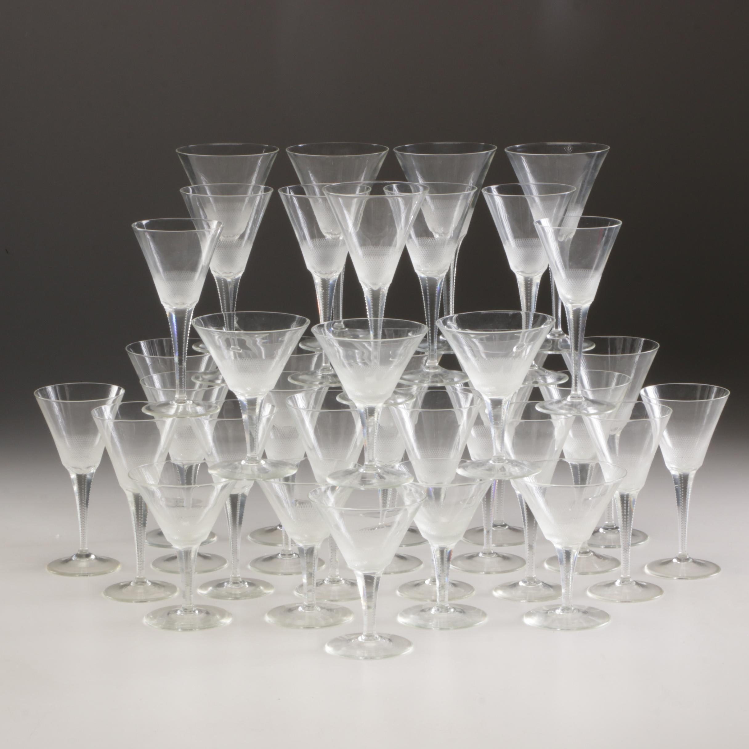 Etched Glass Stemware