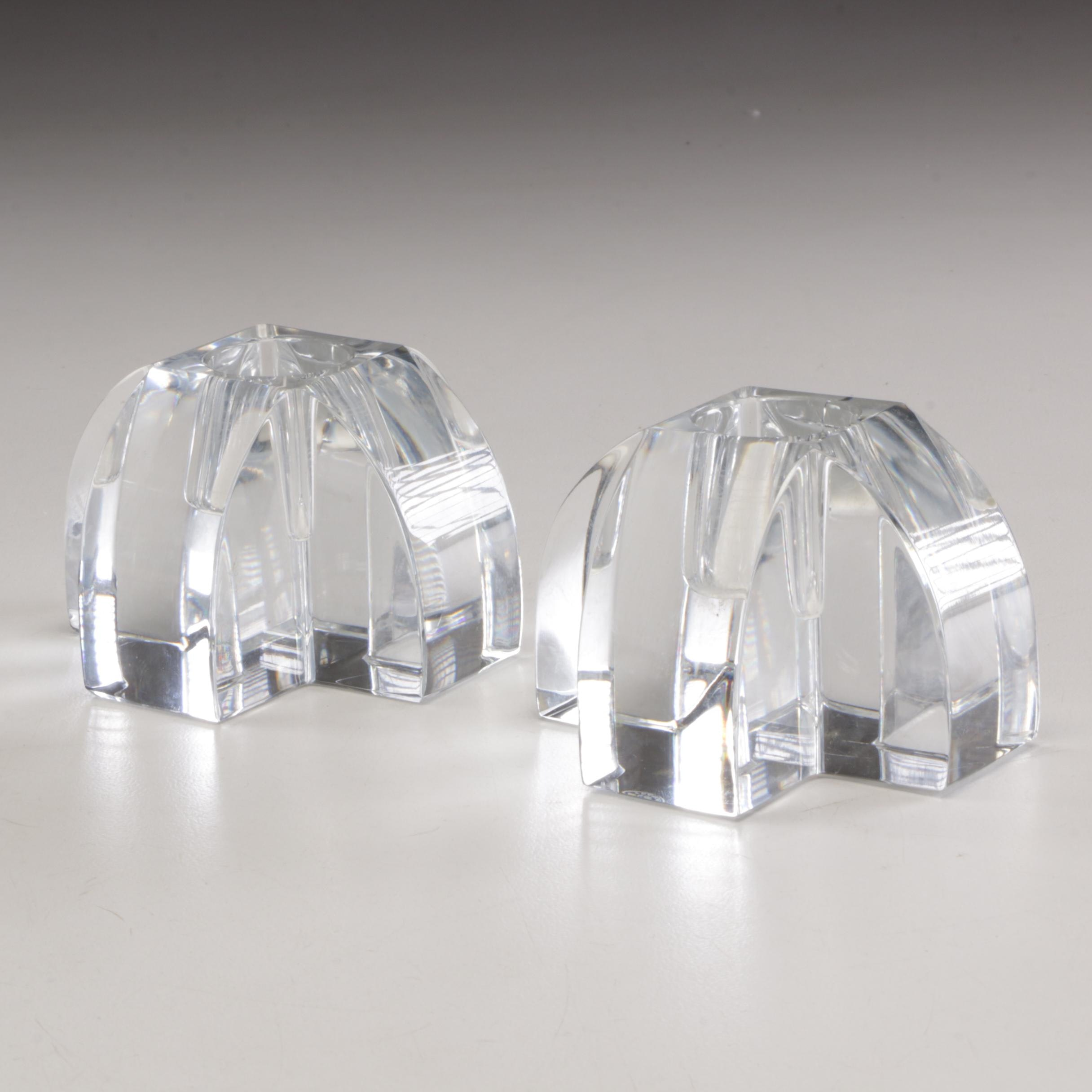 Baccarat Candle Holders