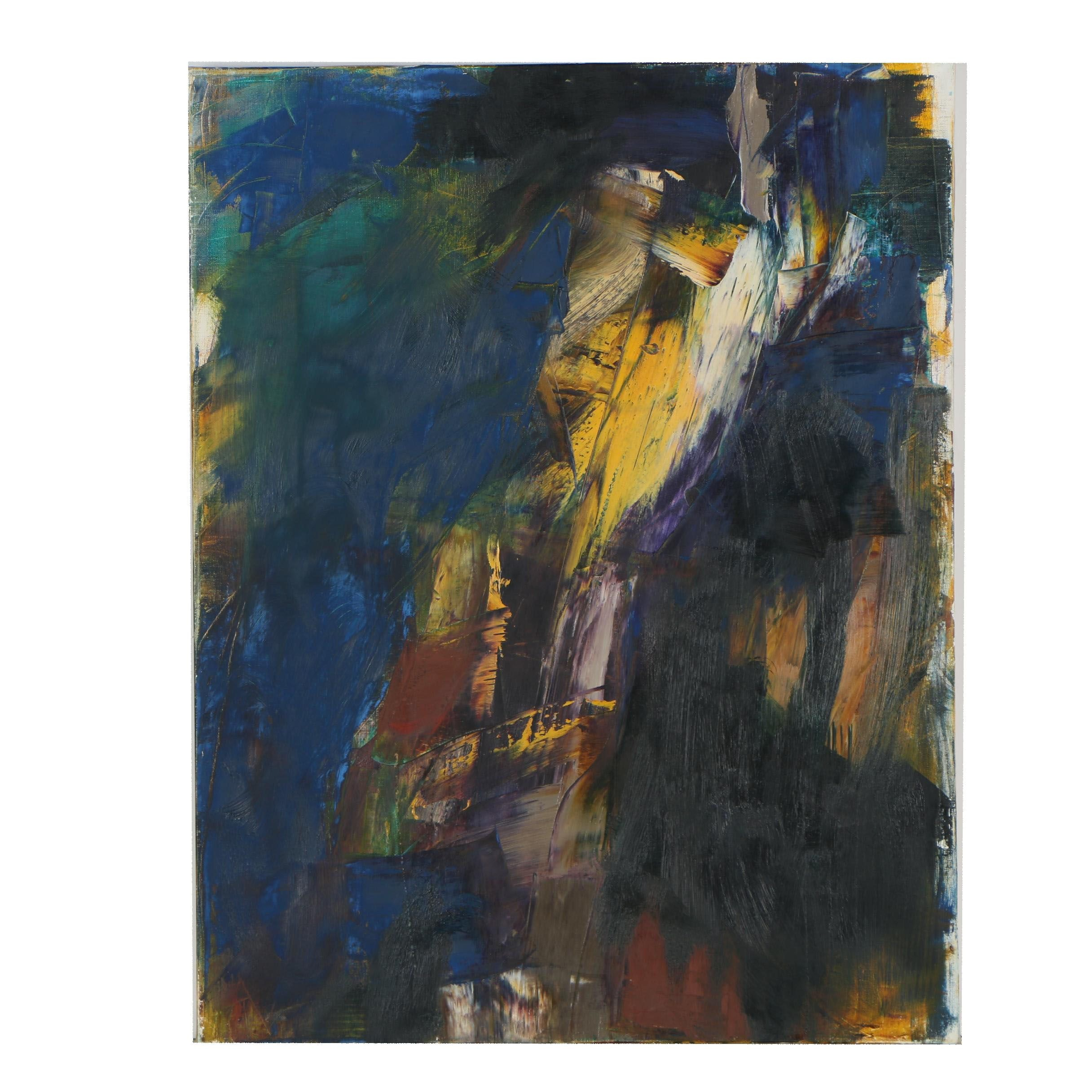 Richard Snyder 2000 Abstract Oil Painting