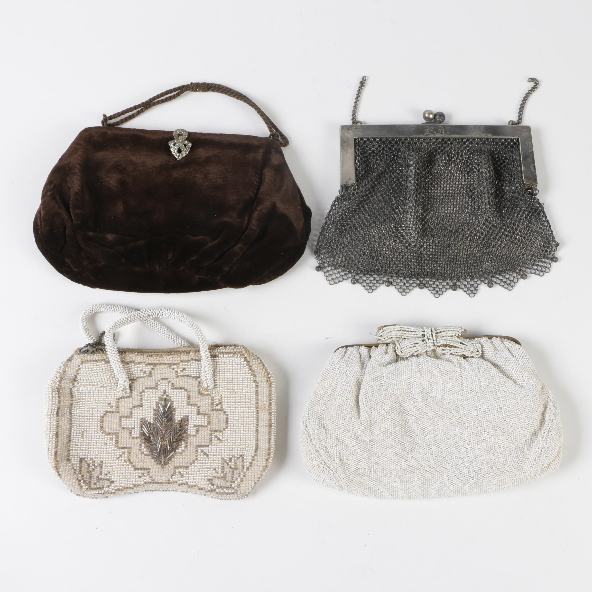 Mesh, Beaded and Velvet Evening Bags Including Bonwit Teller