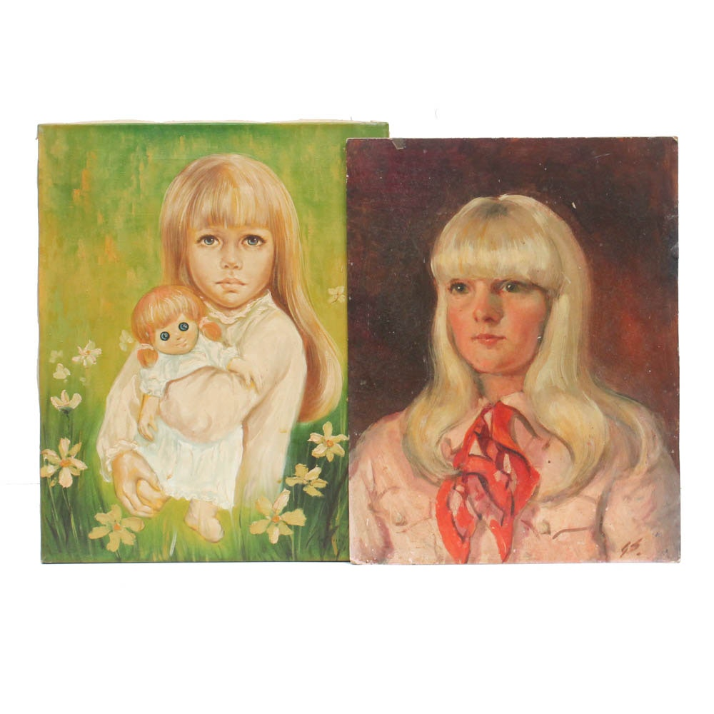 "George Straub and Le Croix Oil Portraits ""Suzie Barrettsmith"""