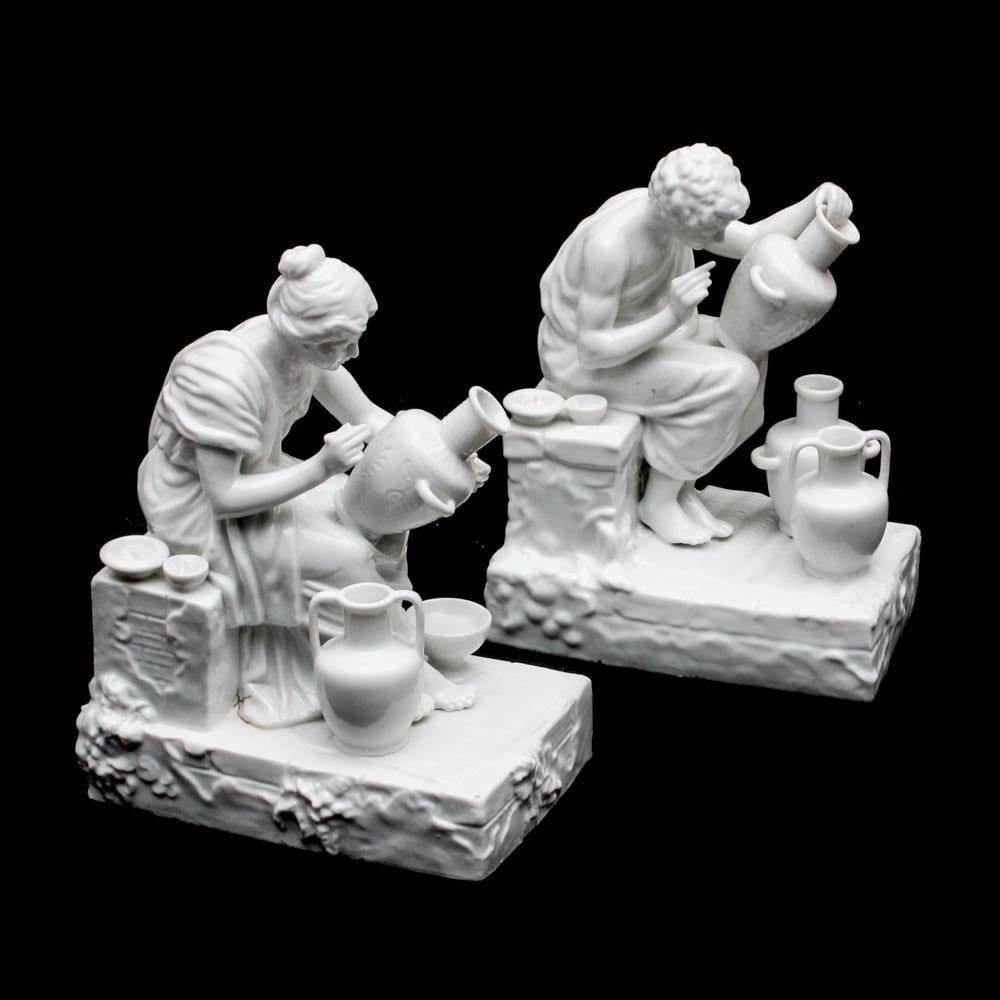 Porcelain Figurines Decorating Amphorae
