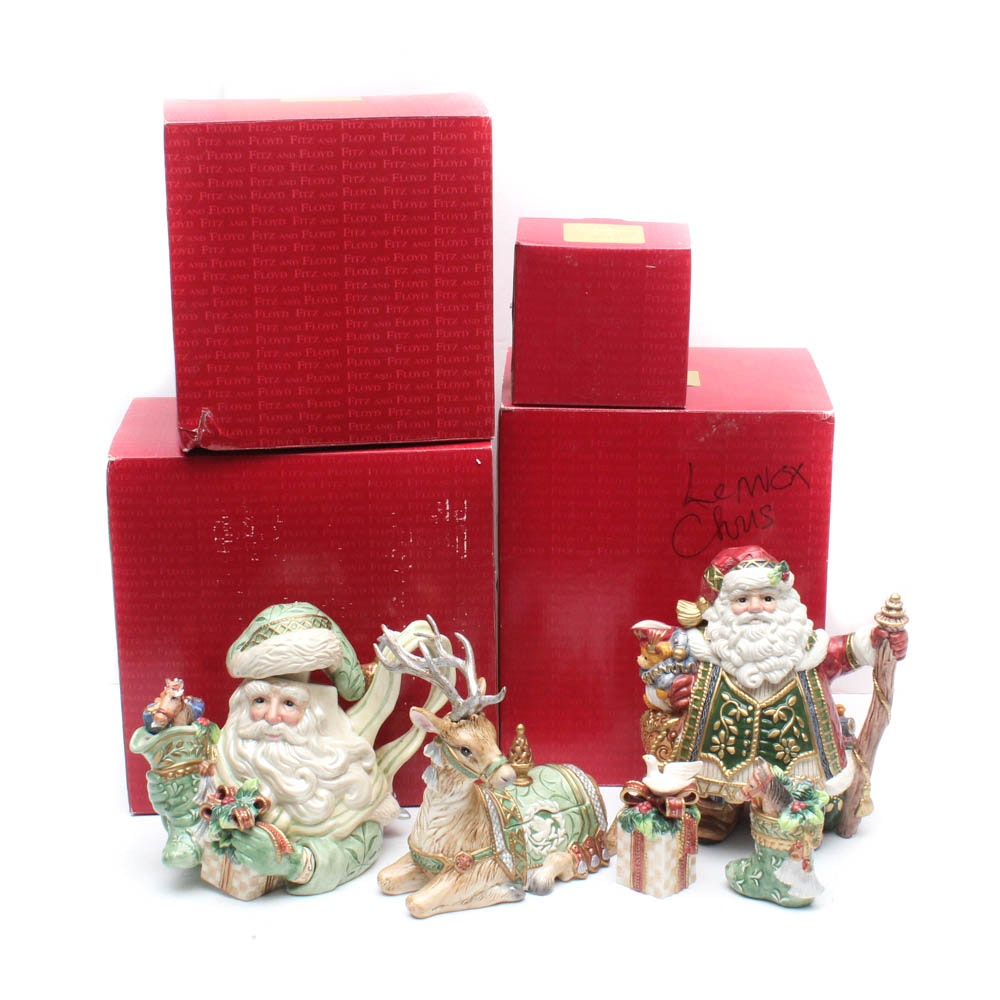 Fitz and Floyd Holiday Ceramic Serveware