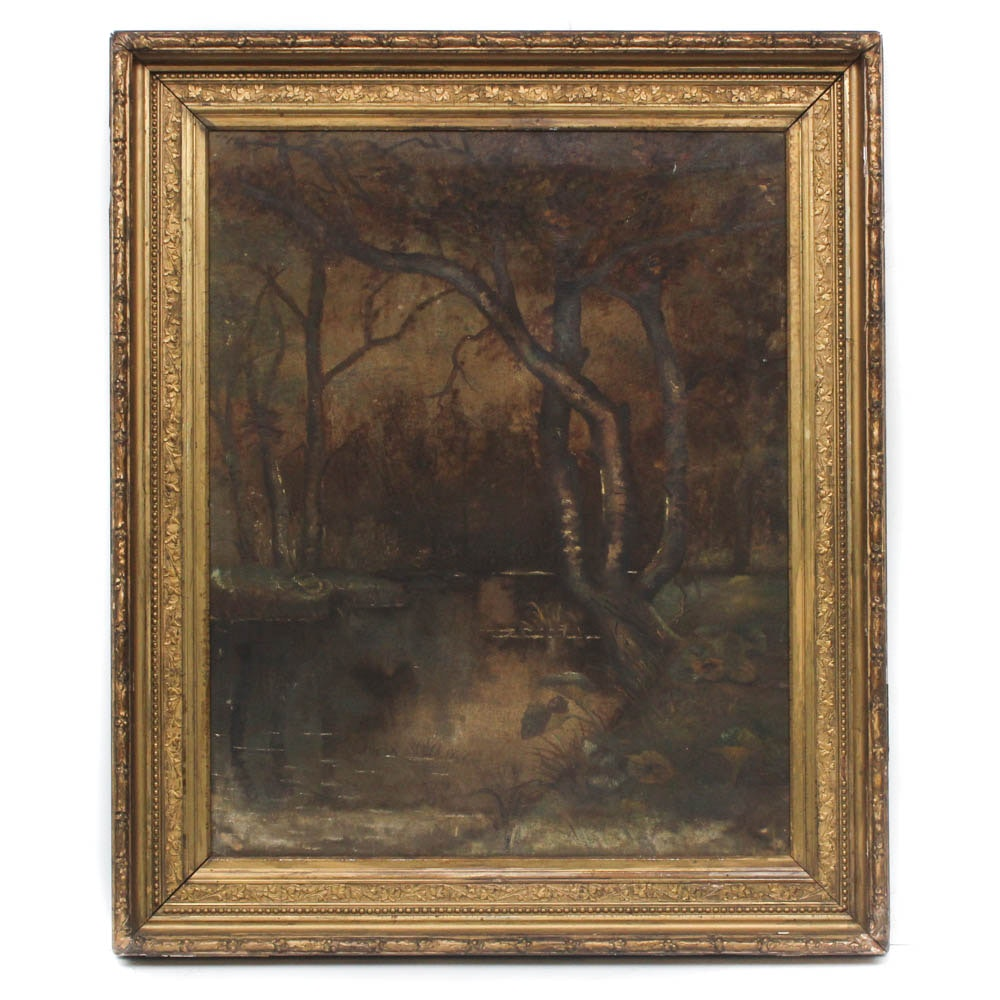 Mid-Late 19th Century Landscape Oil Painting