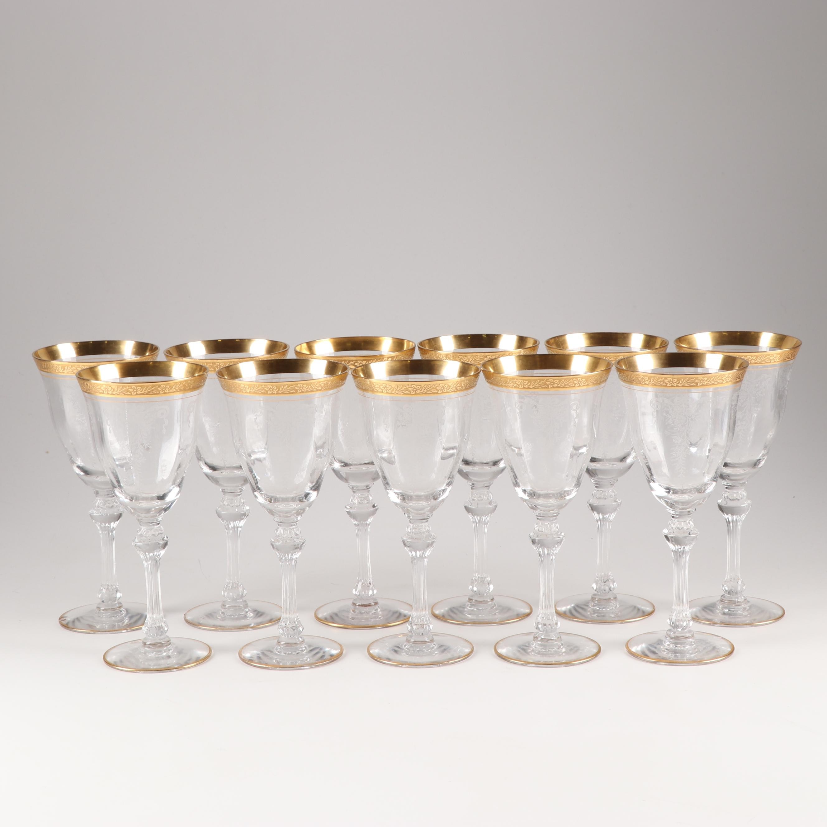"Tiffin-Franciscan ""Melrose"" Water Goblets"