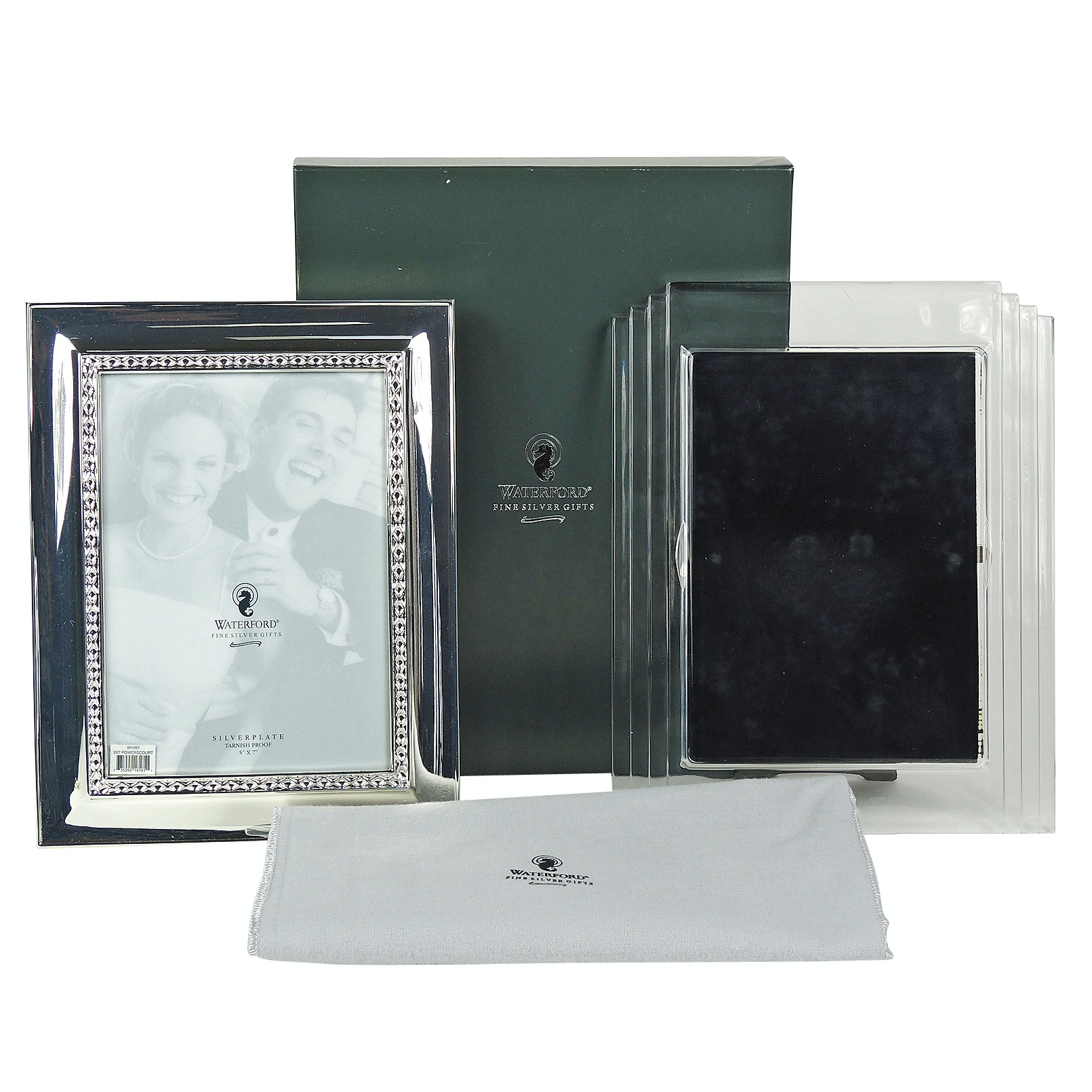 Waterford Crystal and Silver Plated Desk Frames
