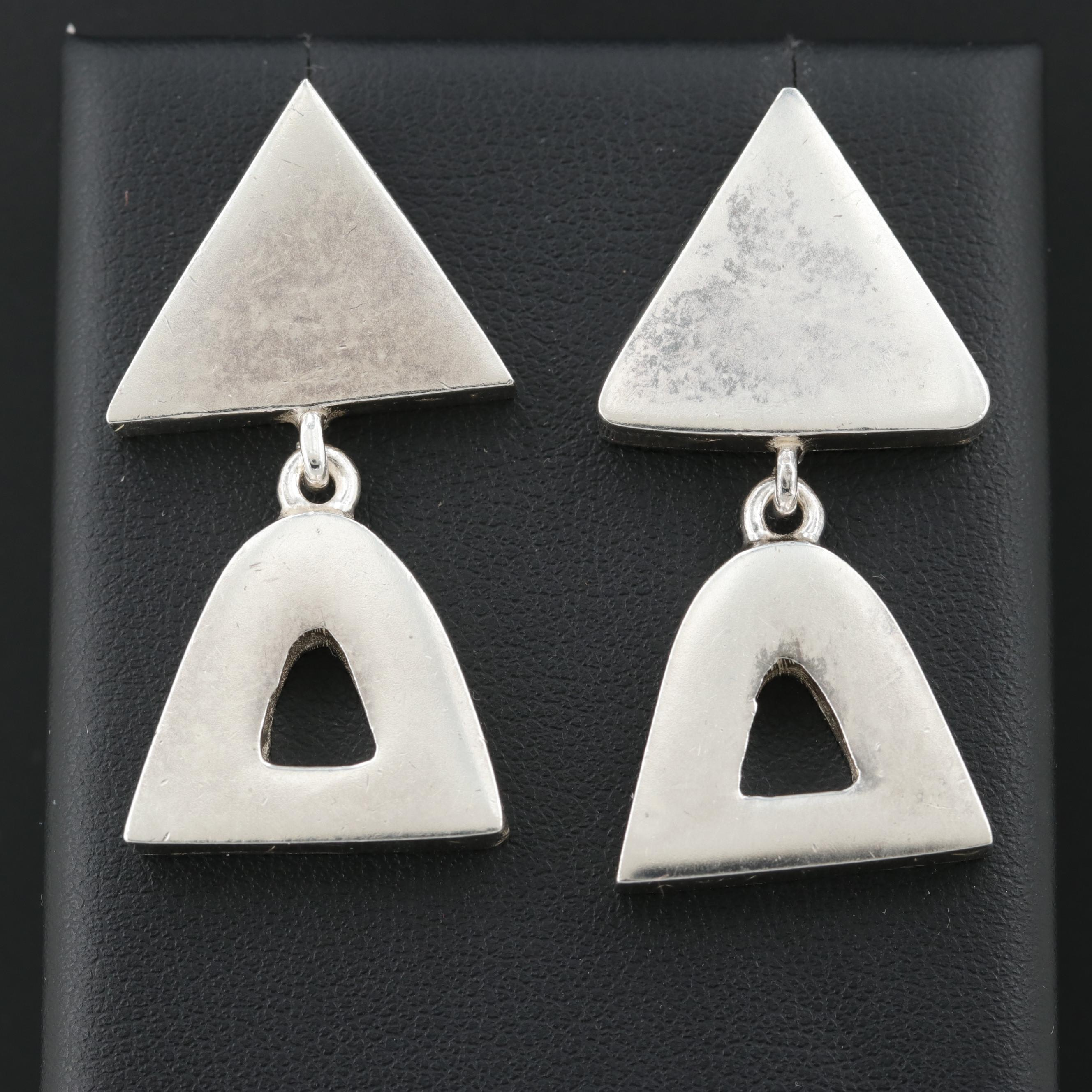 Mexican Sterling Silver Dangle Earrings