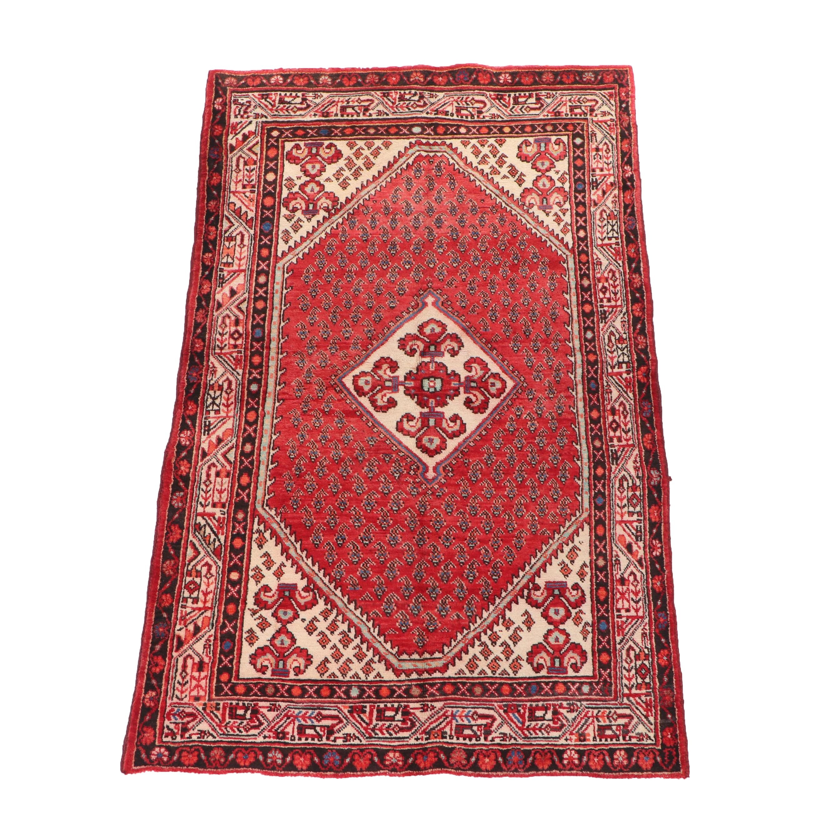 Hand-Knotted Persian Everu Wool Rug