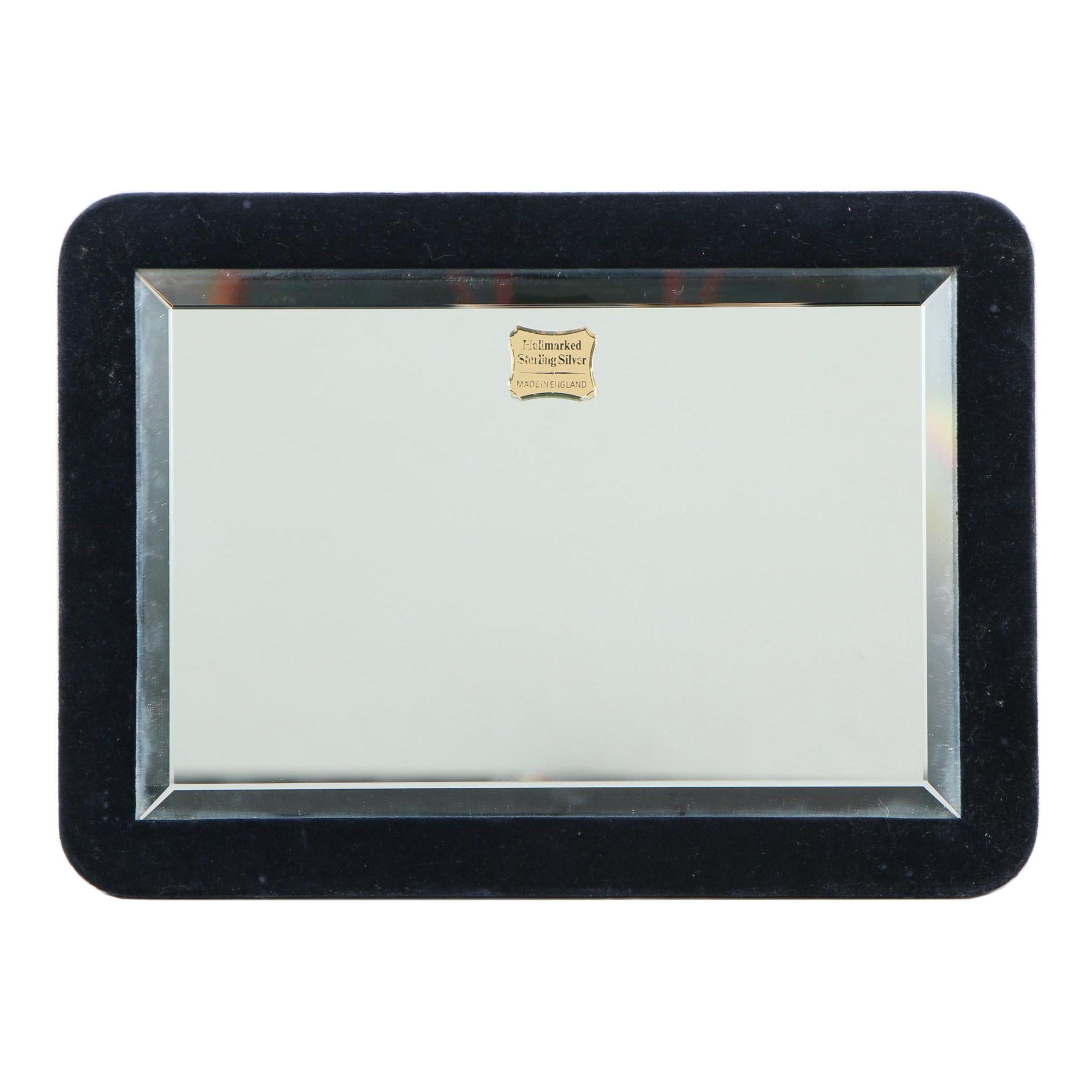 Embossed Sterling Silver Vanity Mirror