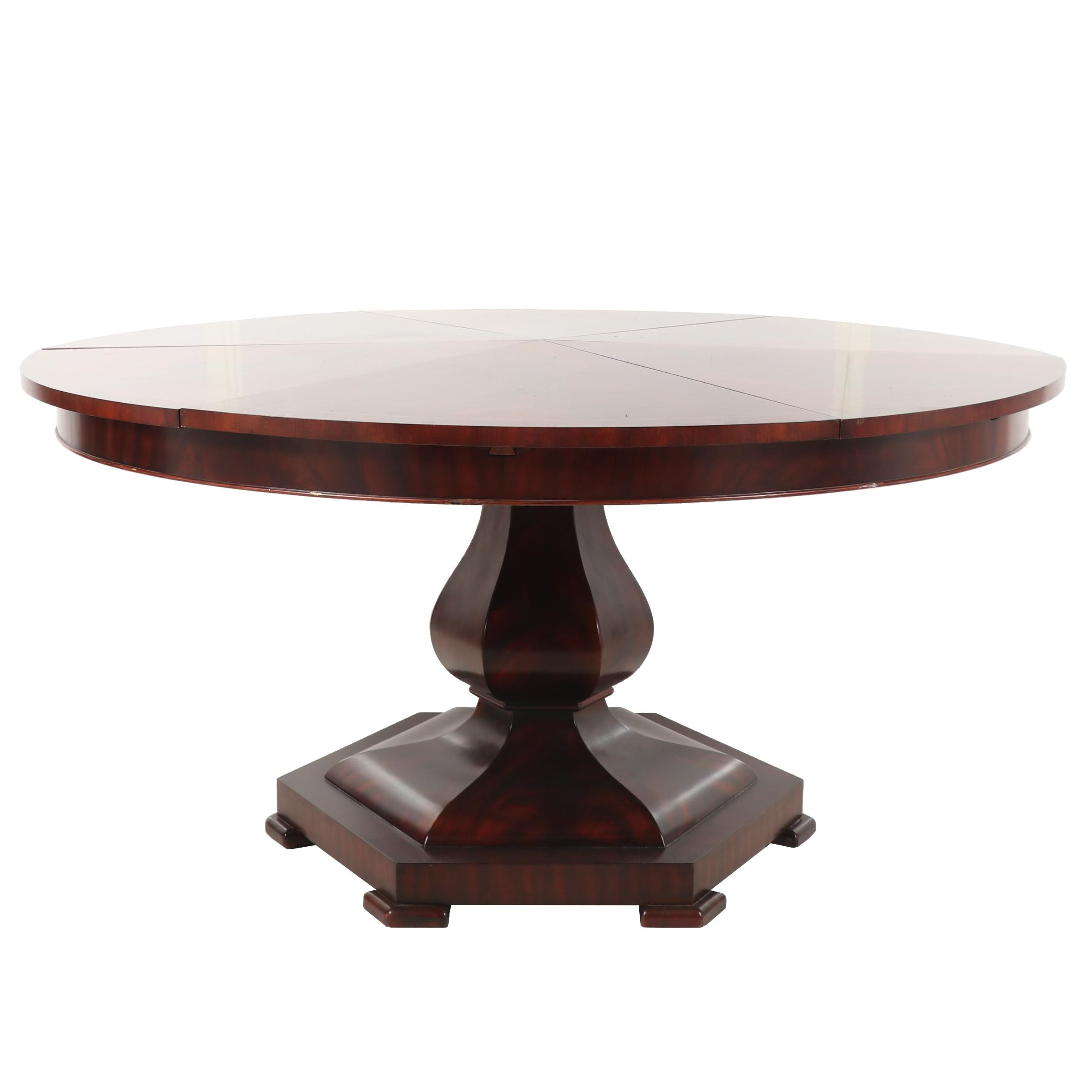Drexel-Heritage Cherry Wood Pedestal Dining Table