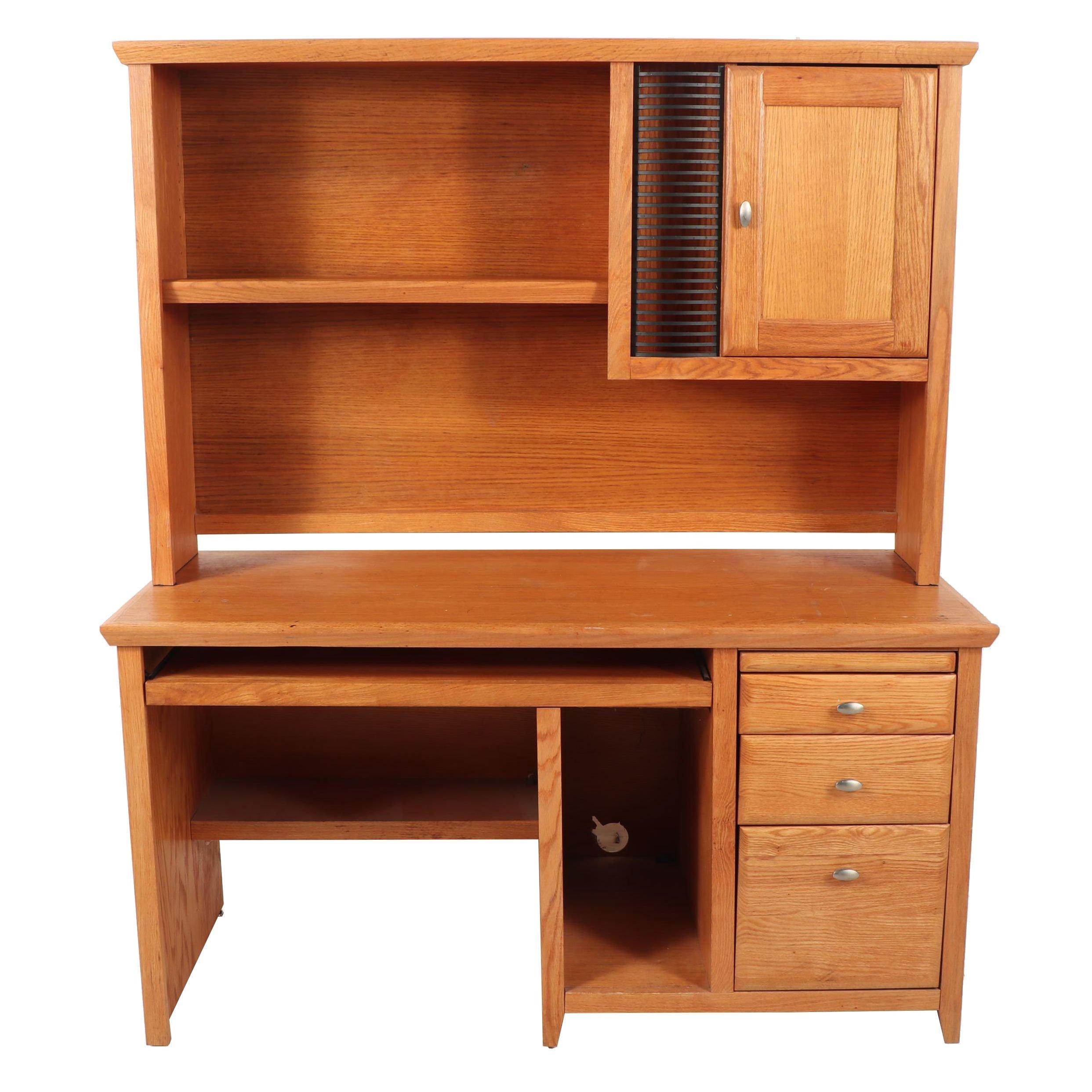 Contemporary Wooden Computer Desk