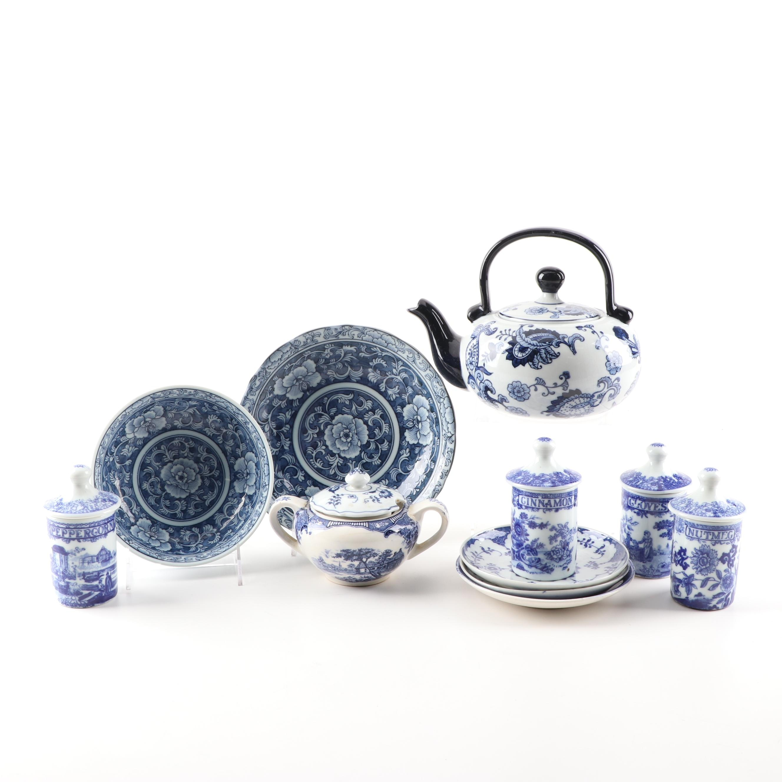 Blue and White Tableware
