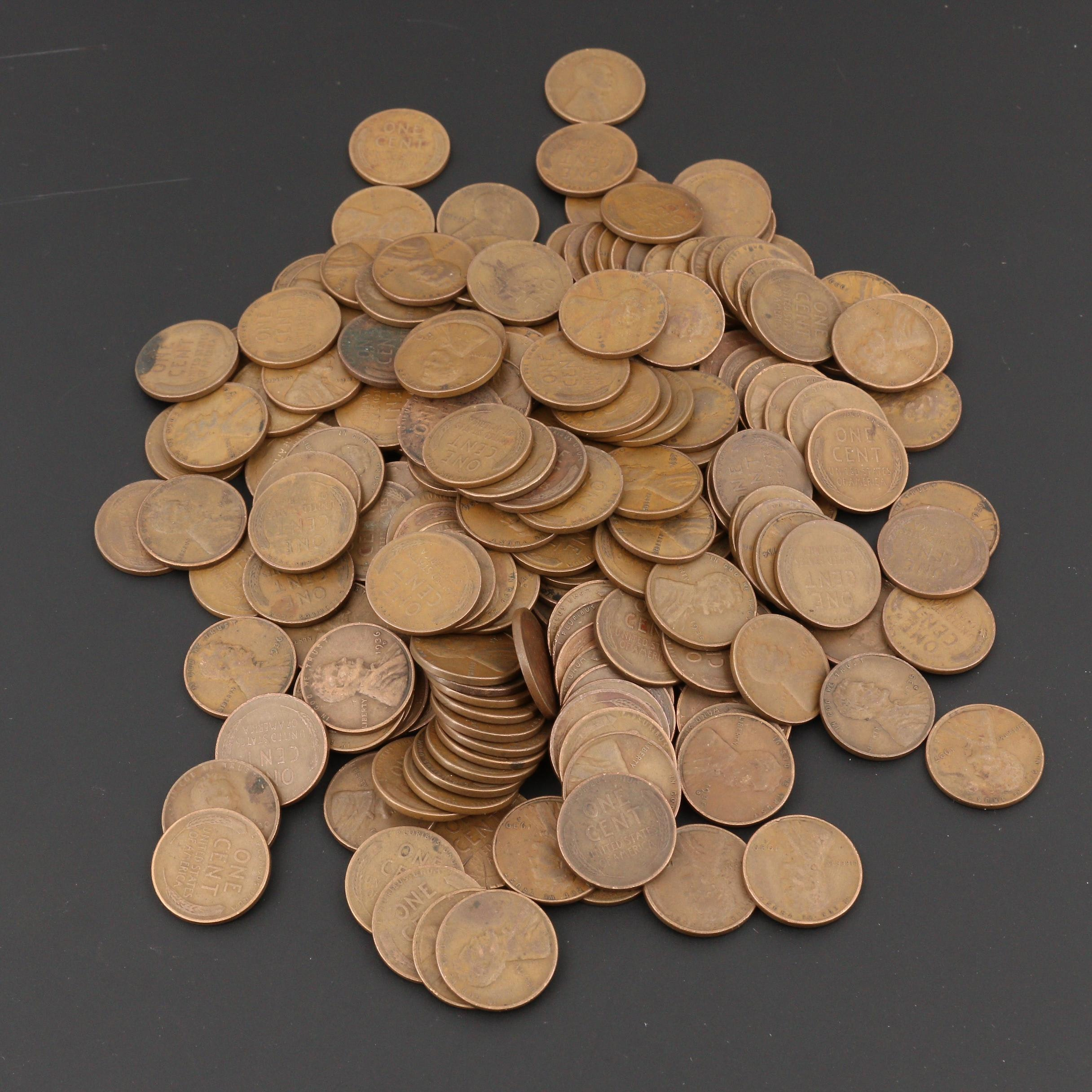 200 Lincoln Wheat Cents From the 1930s