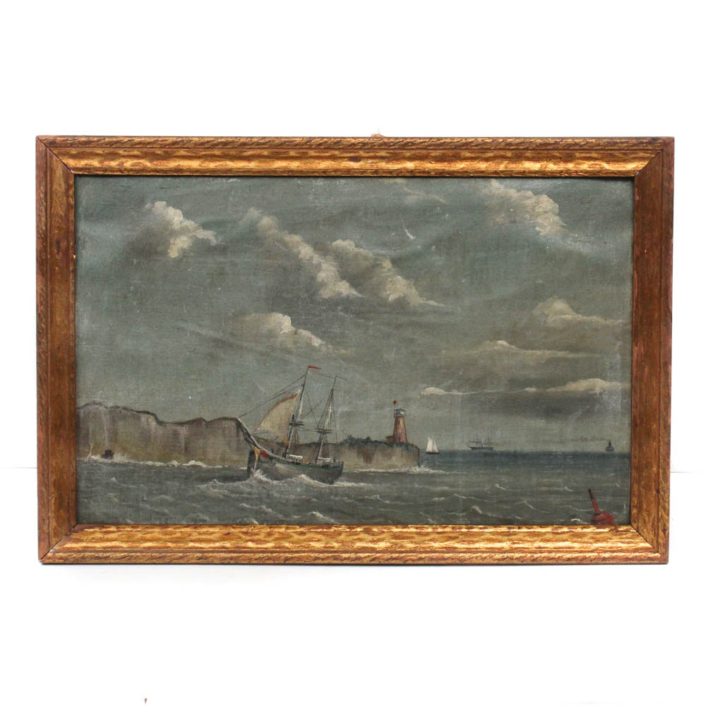 Maritime Oil Painting, Late 19th Century