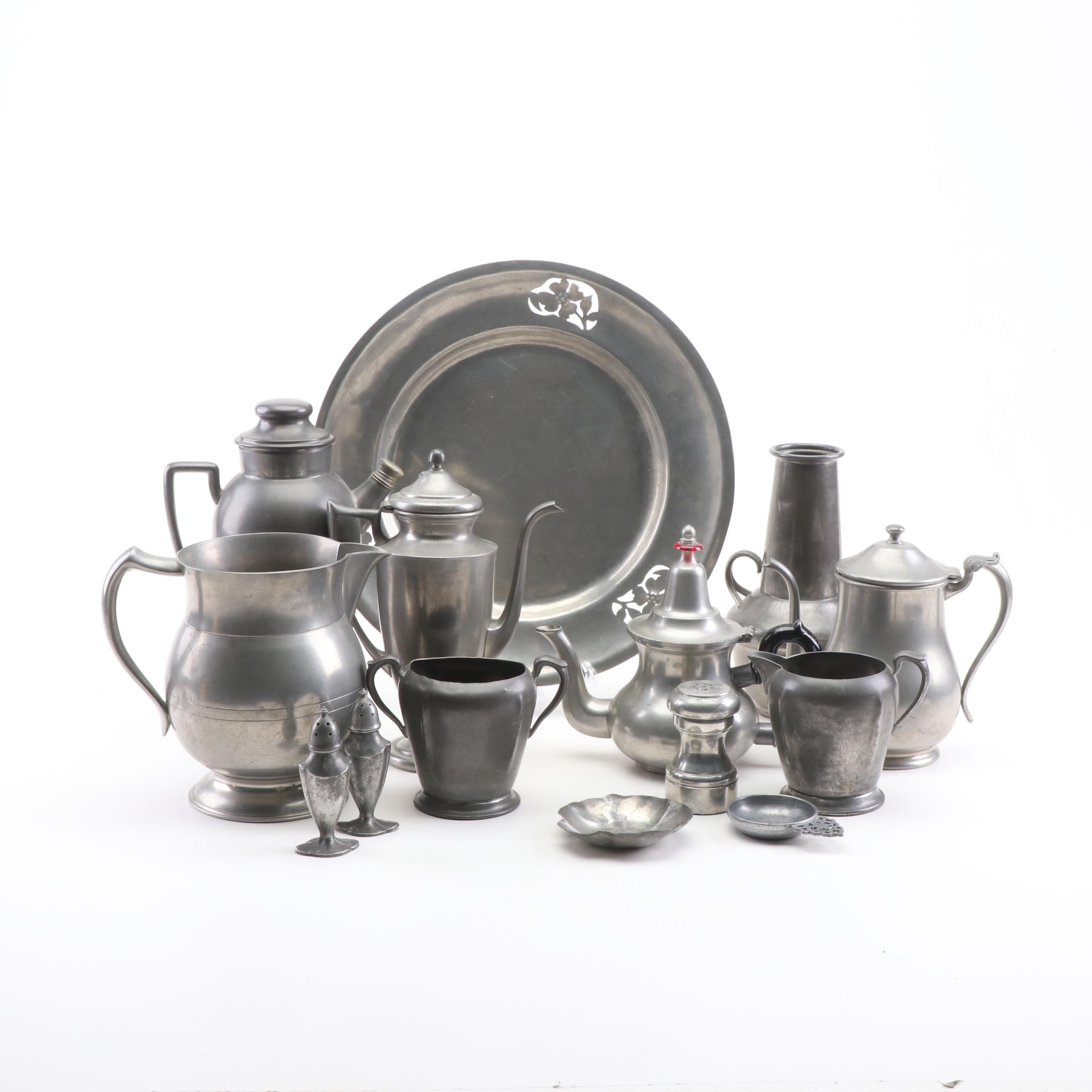 Pewter Serveware Collection including Concord, Old Colonial and More