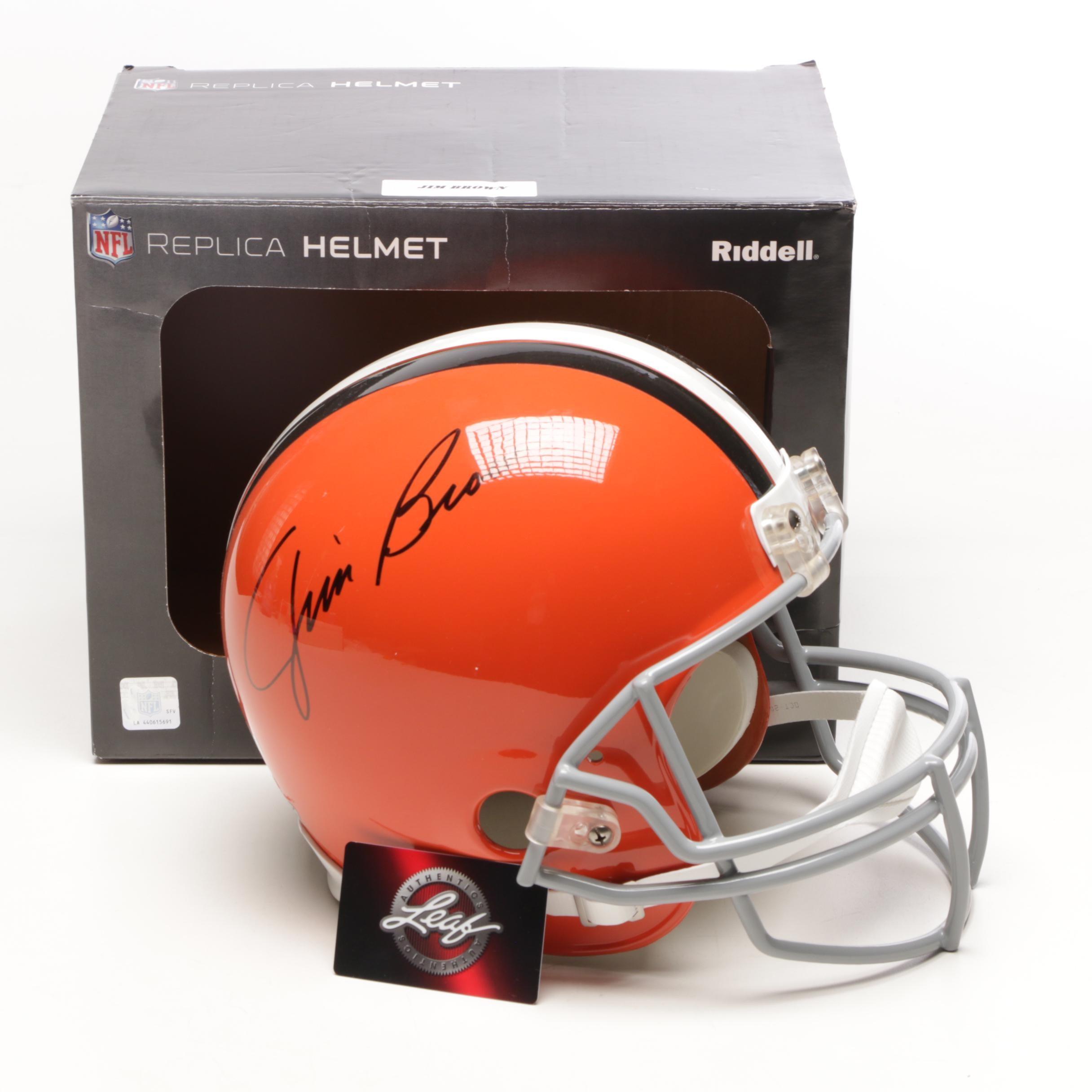 Jim Brown Signed Browns Full Size Helmet   COA