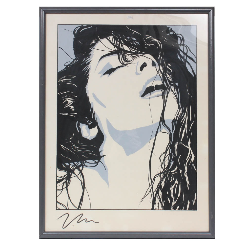 "Victoria Moore Serigraph ""Right There-Vanity"""