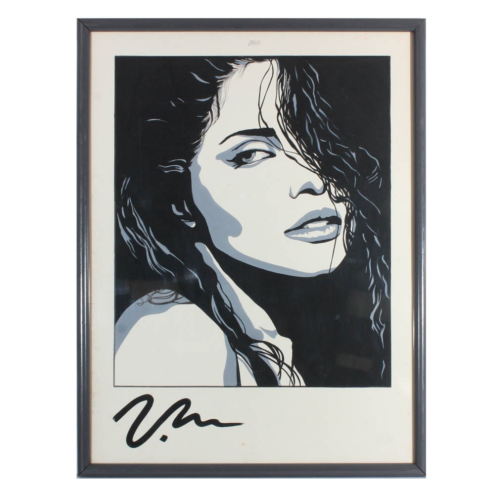 "Serigraph after Victoria Moore ""Sultry-Vanity"""