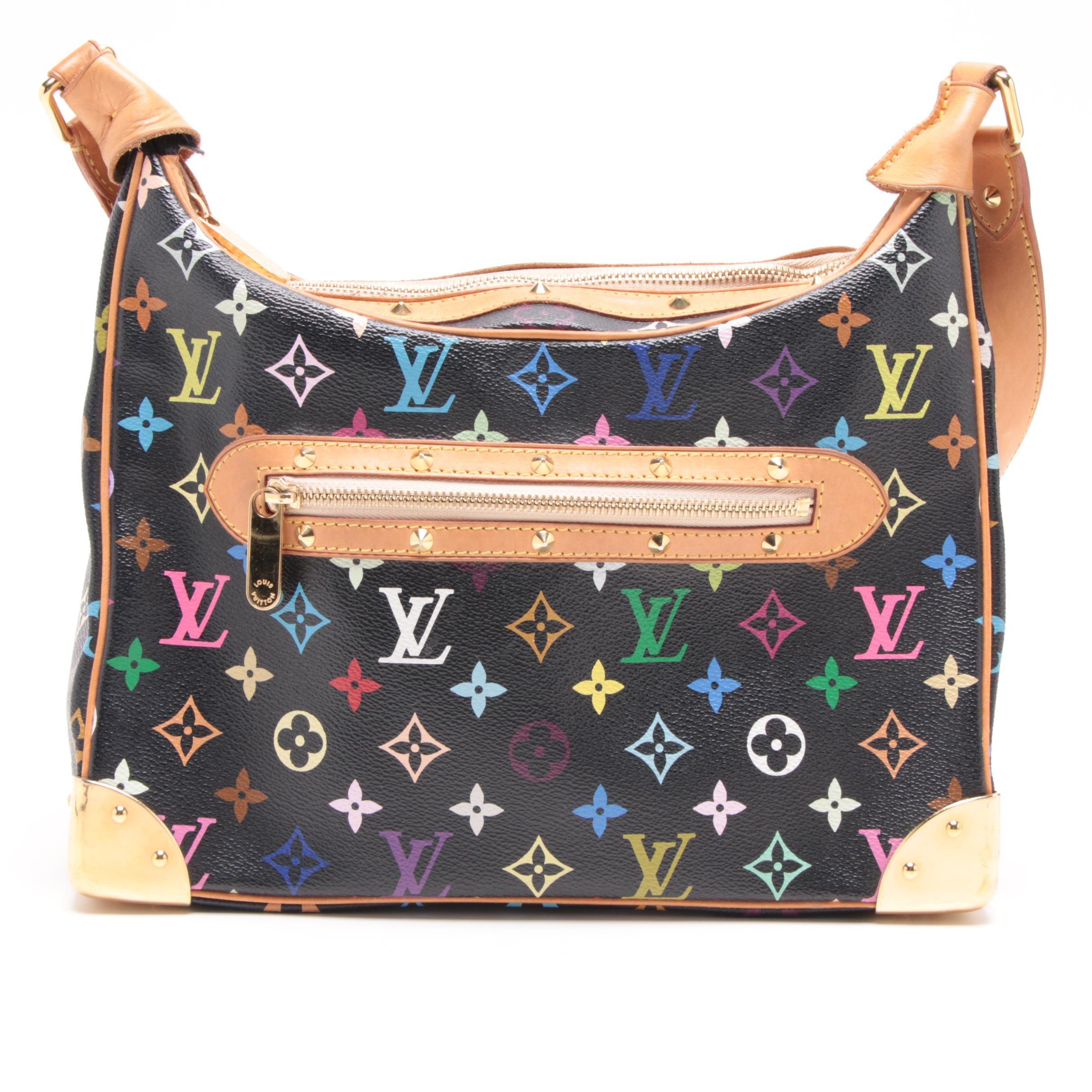 Louis Vuitton Paris Multicolore Monogram Canvas Boulogne Bag
