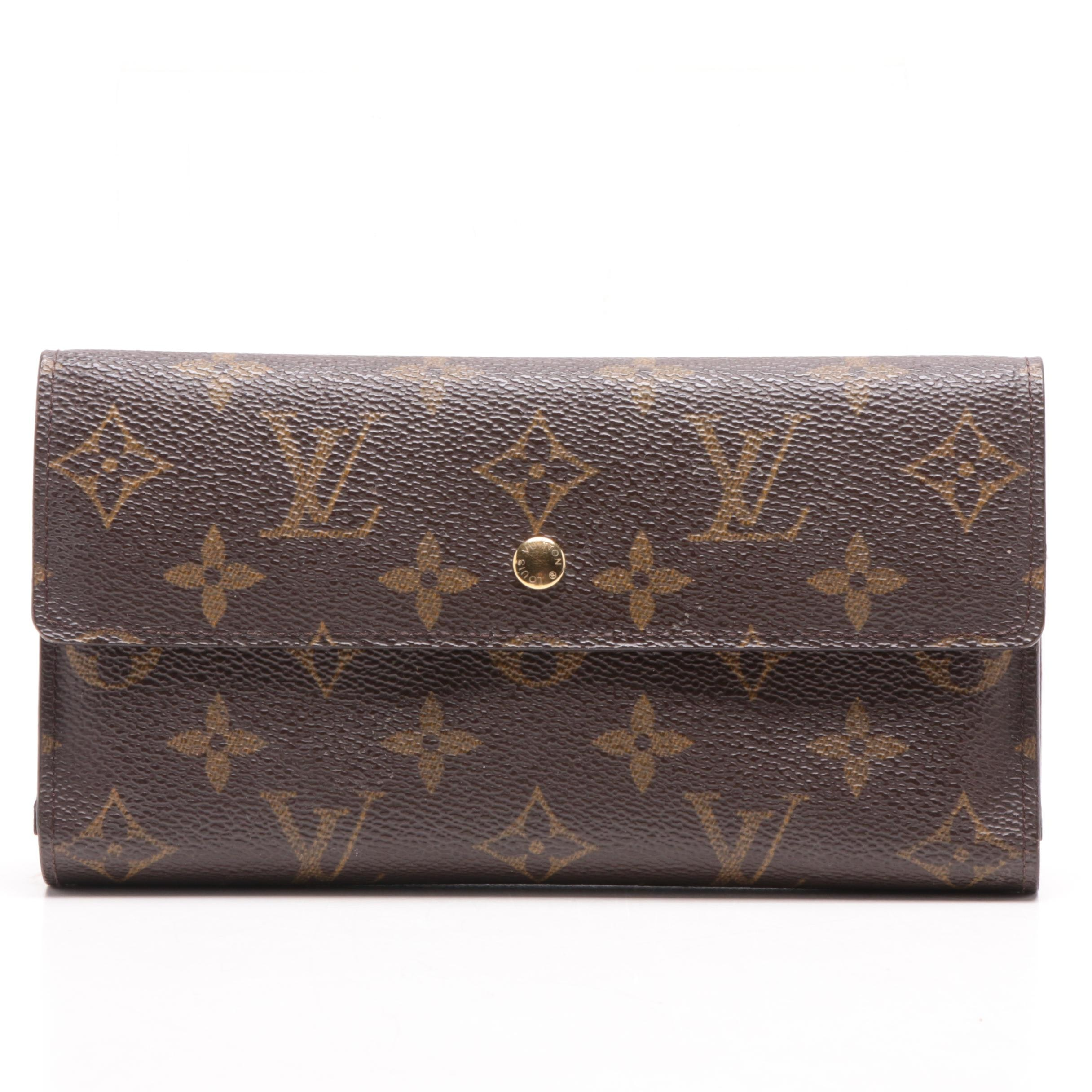Louis Vuitton Paris Monogram Canvas Porte Tresor Wallet