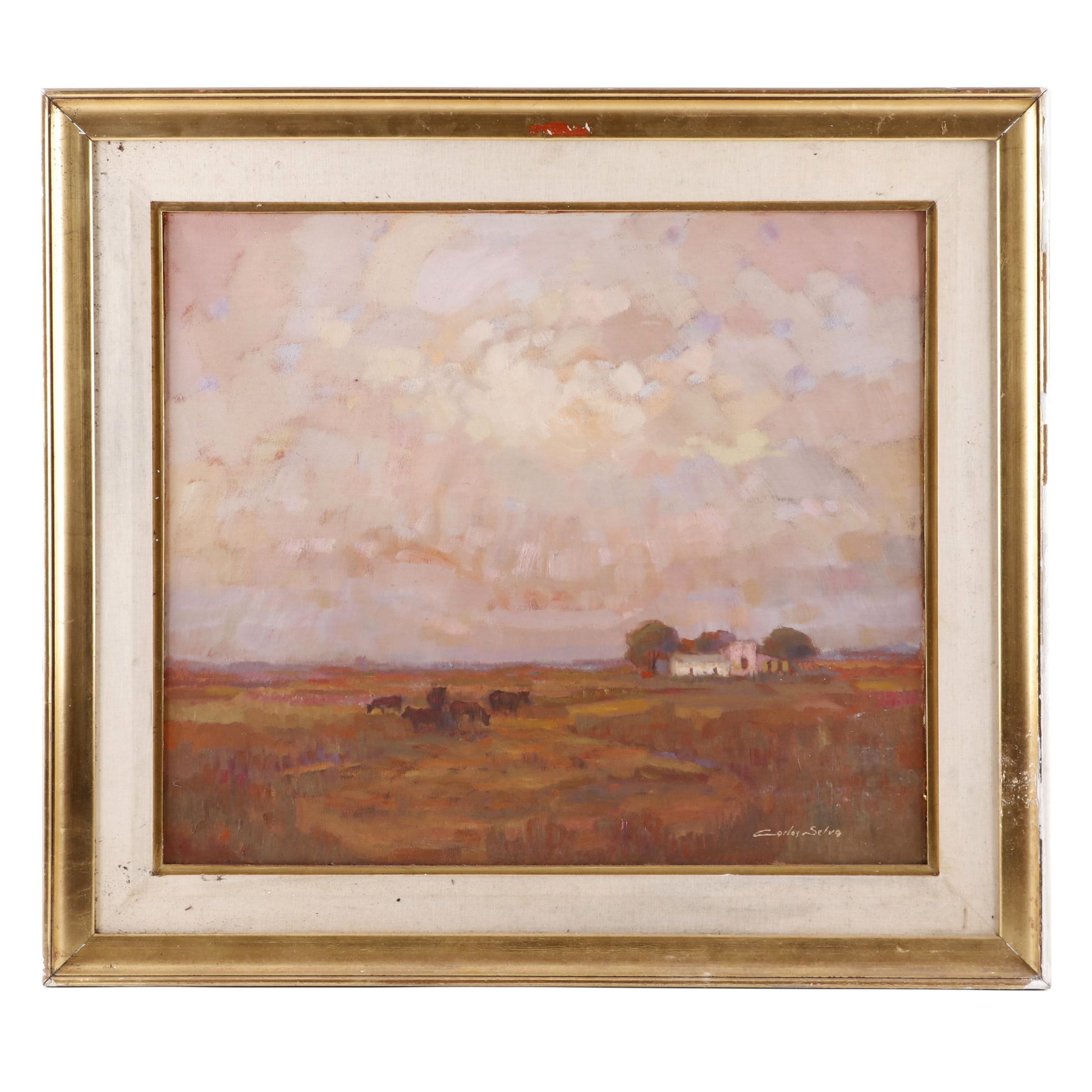 """Carlos Selva Oil Painting """"Campo y Cielo"""""""