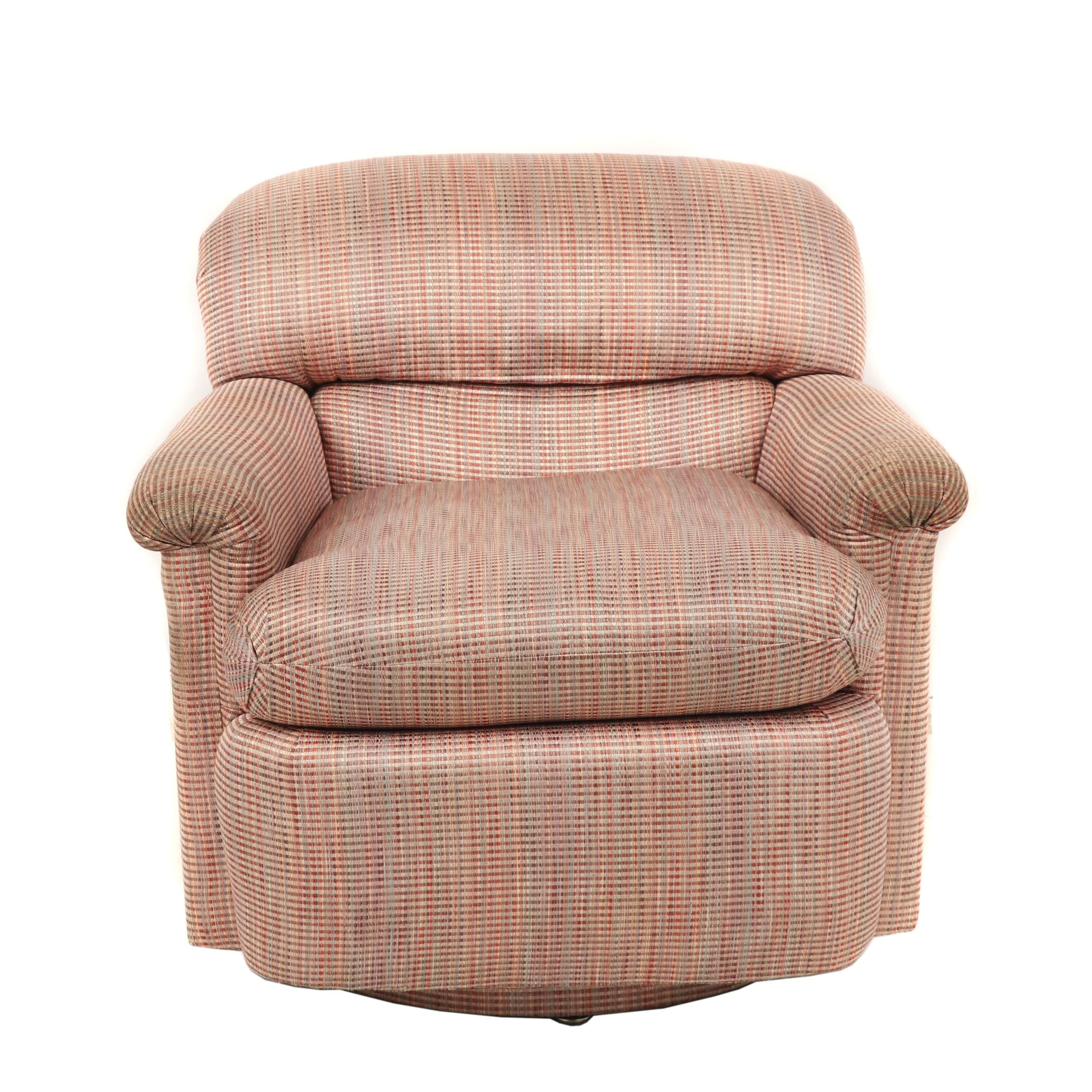 Baker Furniture Swivel Club Chair, Contemporary