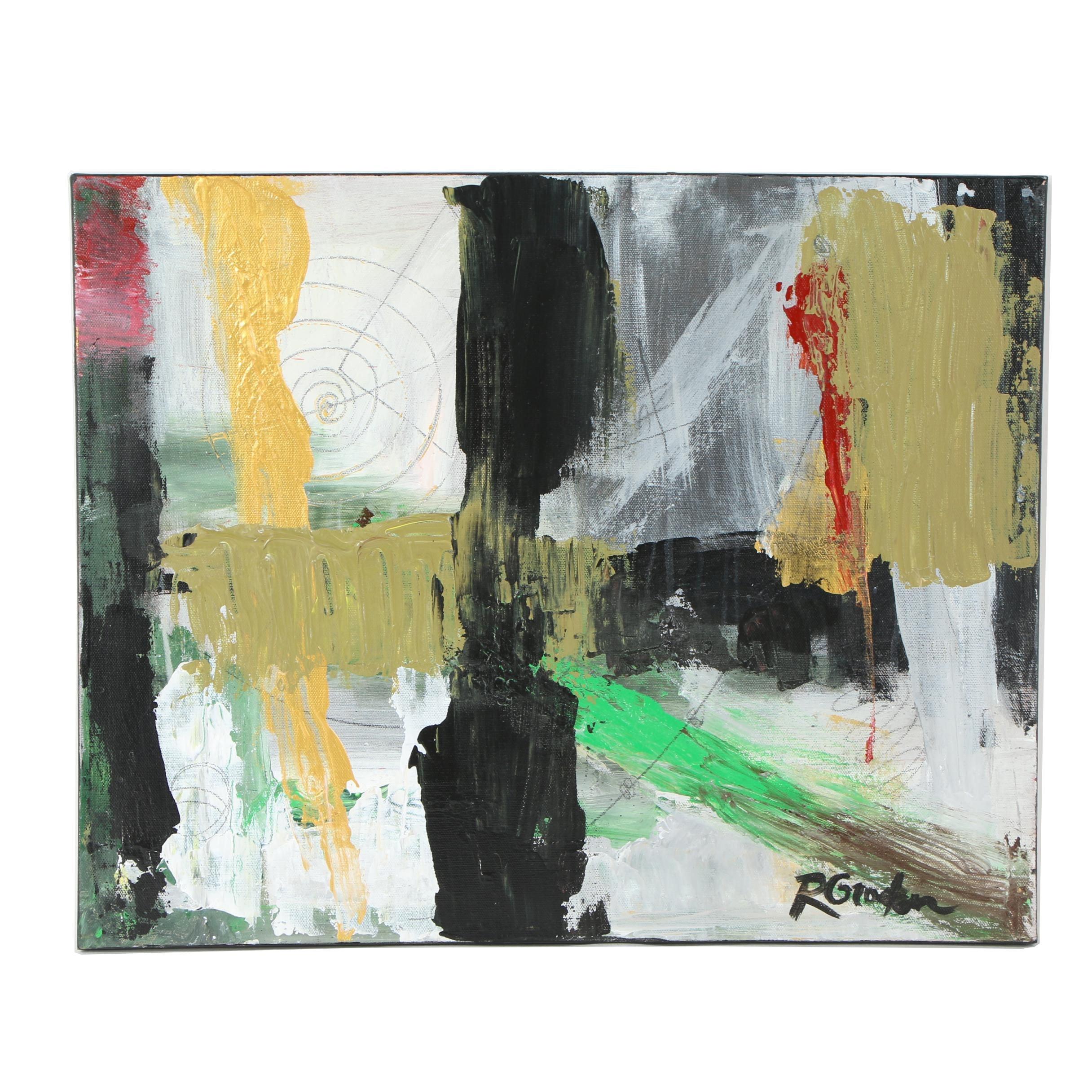 "Randy Groden Mixed Media Painting ""Naxos"""