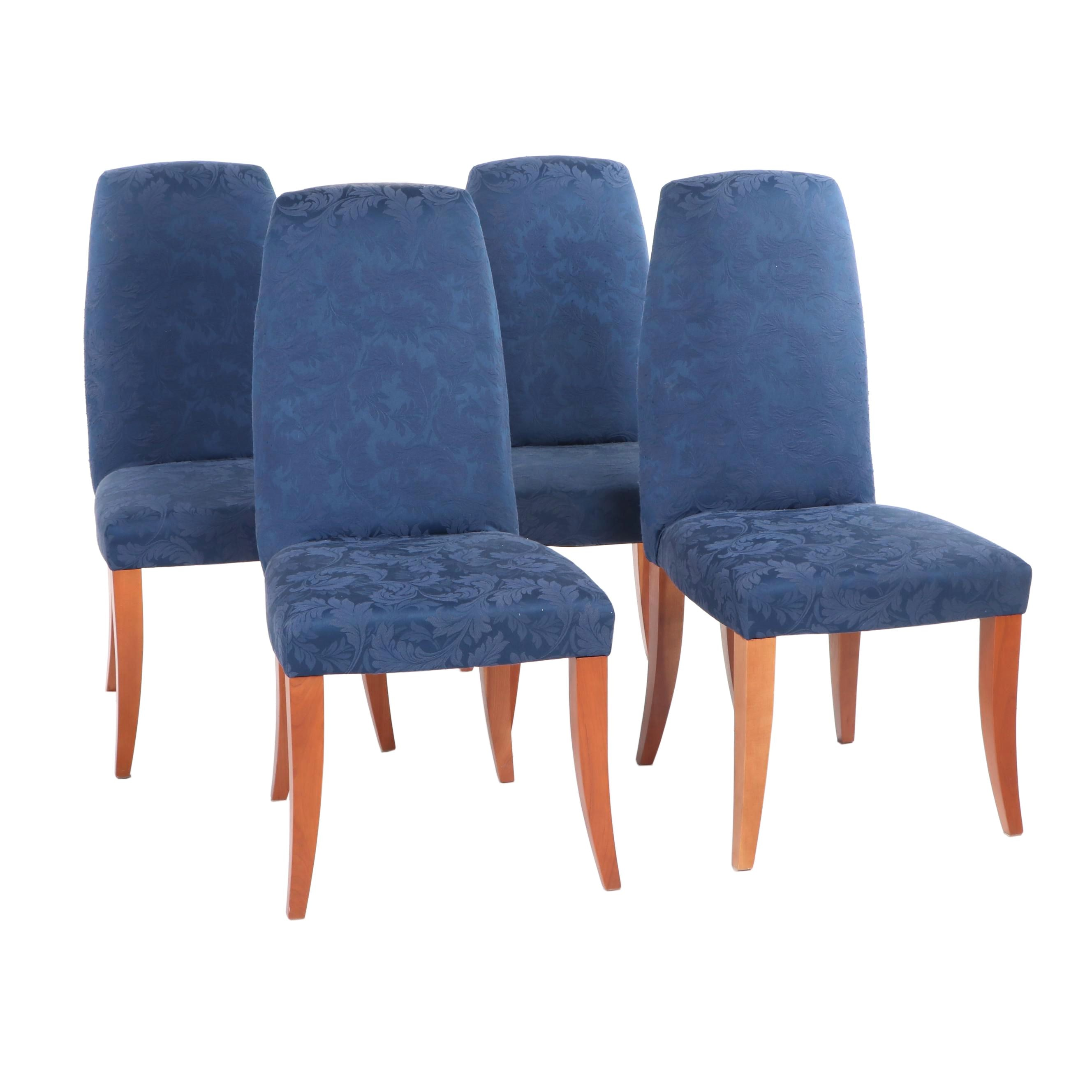 Cherry Upholstered Dining Chairs, Contemporary