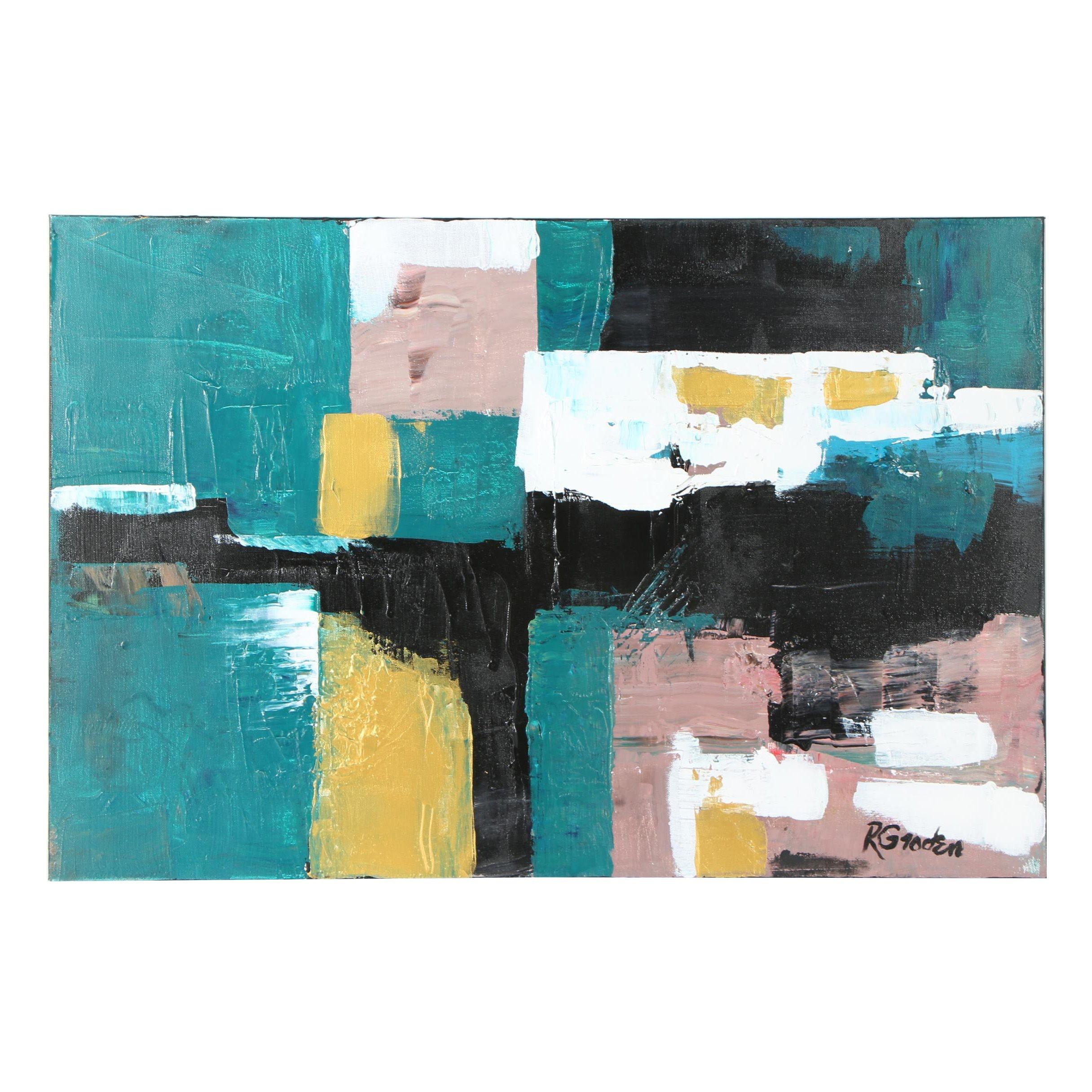 "Randy Groden Mixed Media Painting ""Arta"""