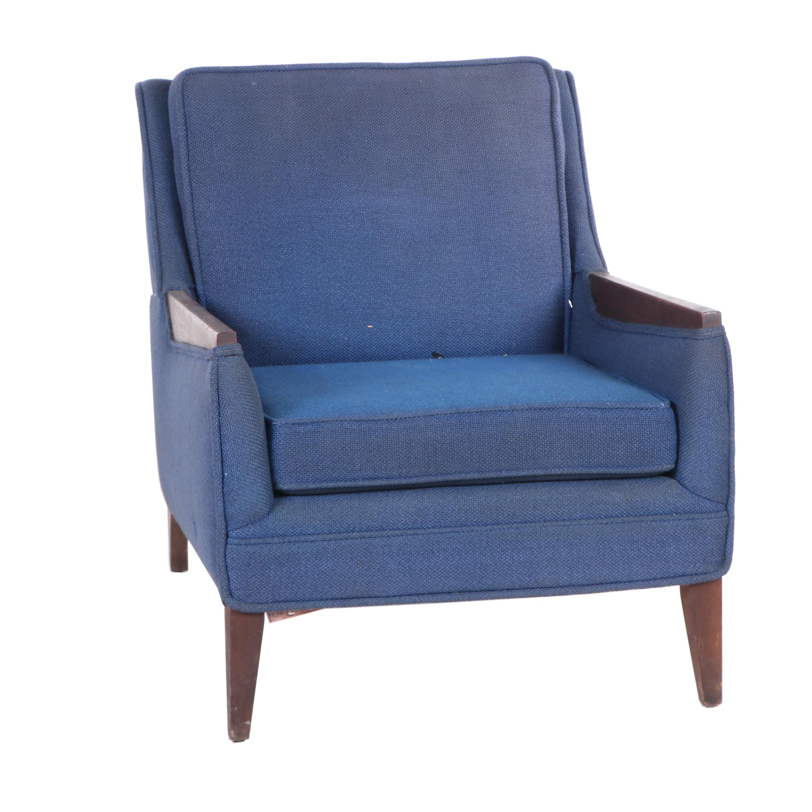 Fashion Art Upholstered Lounge Chair, Mid-Century