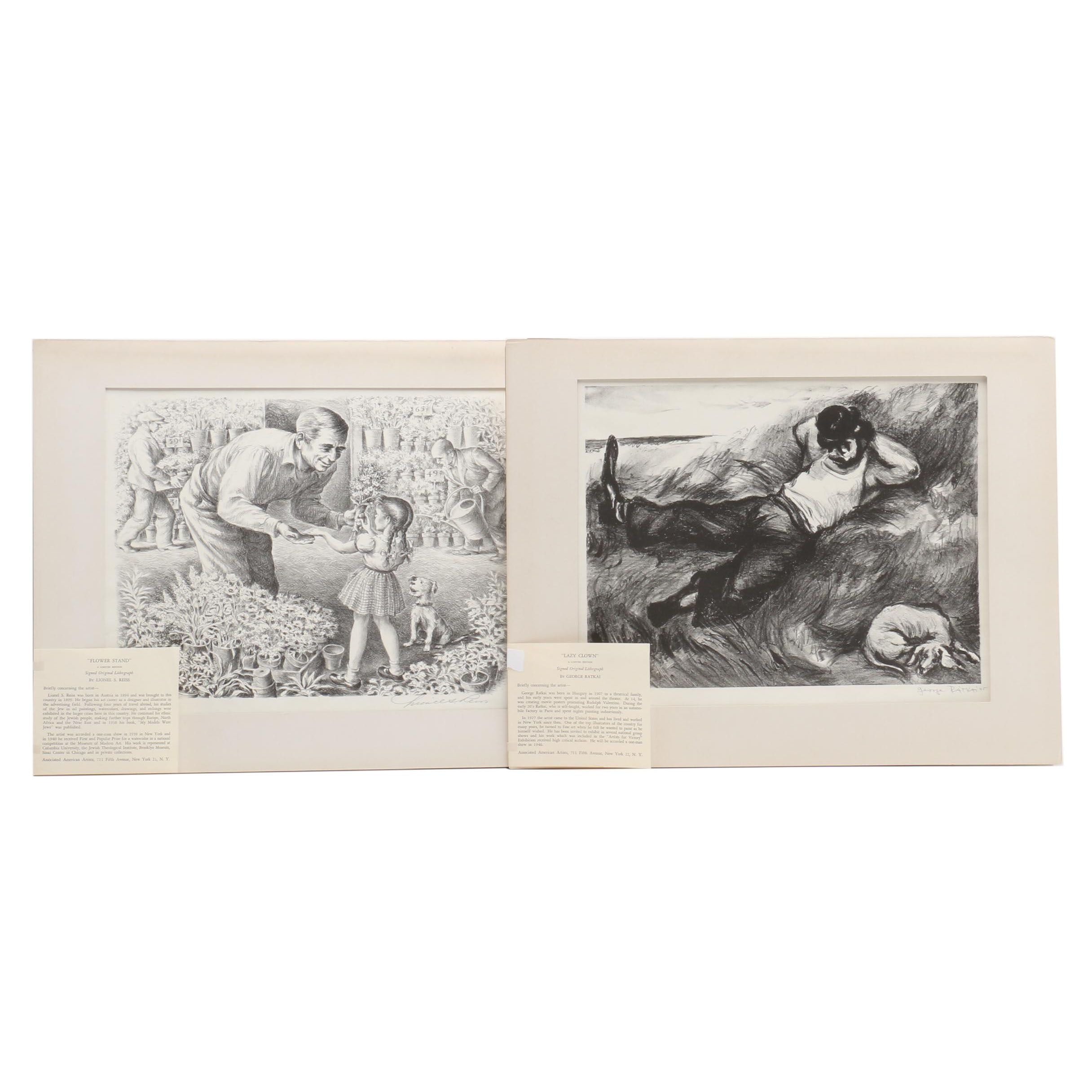 George Ratkai and Lionel Reiss 20th Century Lithographs