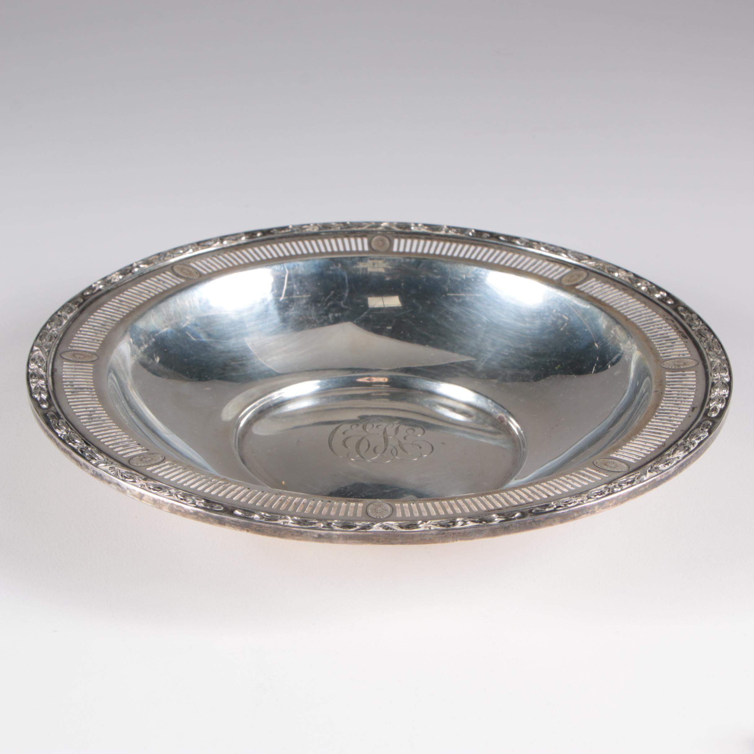 Mt. Vernon Silver Co. Sterling Bon Bon Bowl, 1914 - 1923