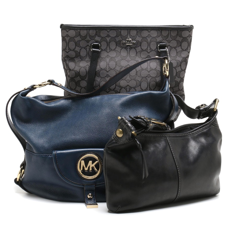 cb961e9e86f4 Coach Handbags and MICHAEL Michael Kors Leather Hobo Bag : EBTH