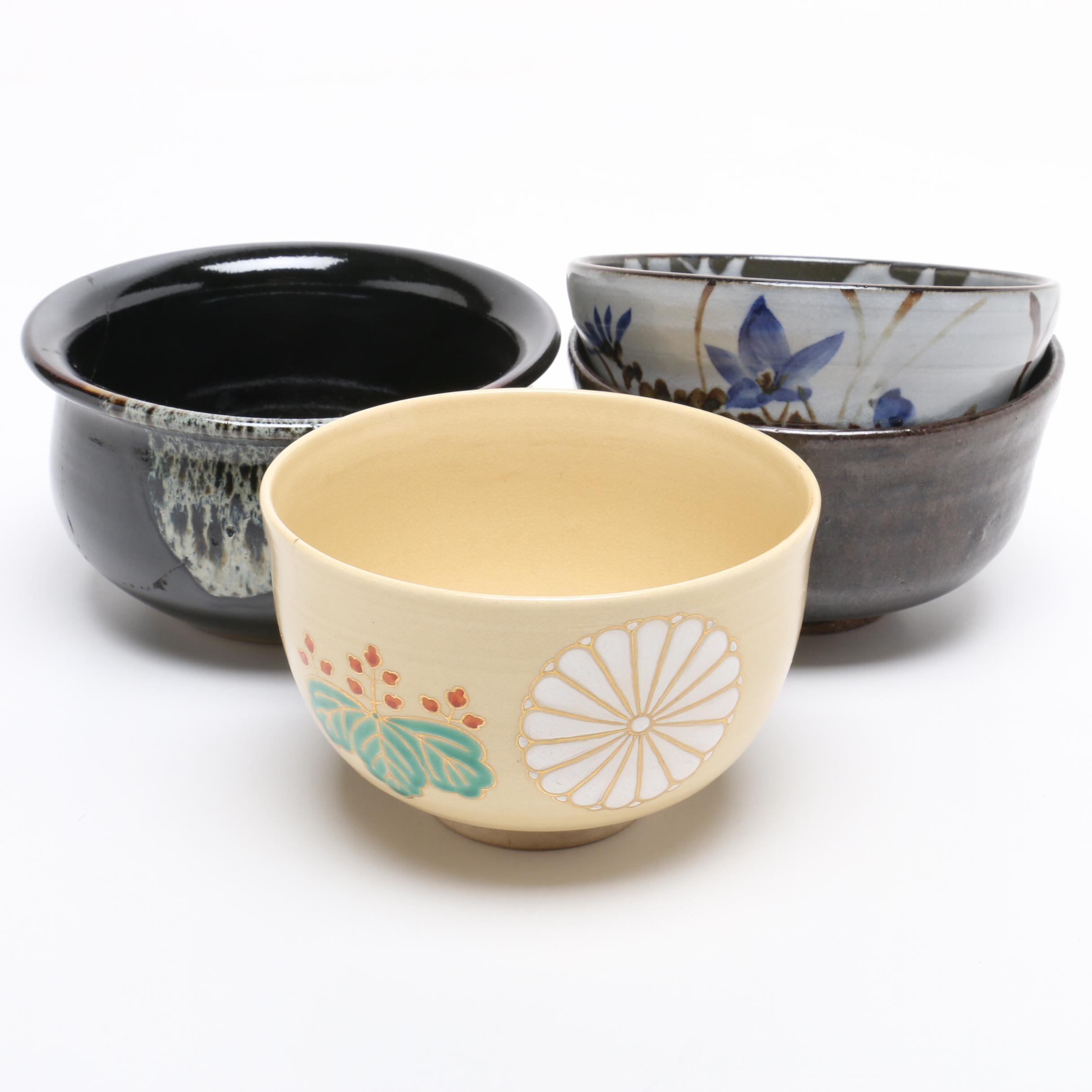 Japanese Ceramic Studio Pottery Tea Bowls