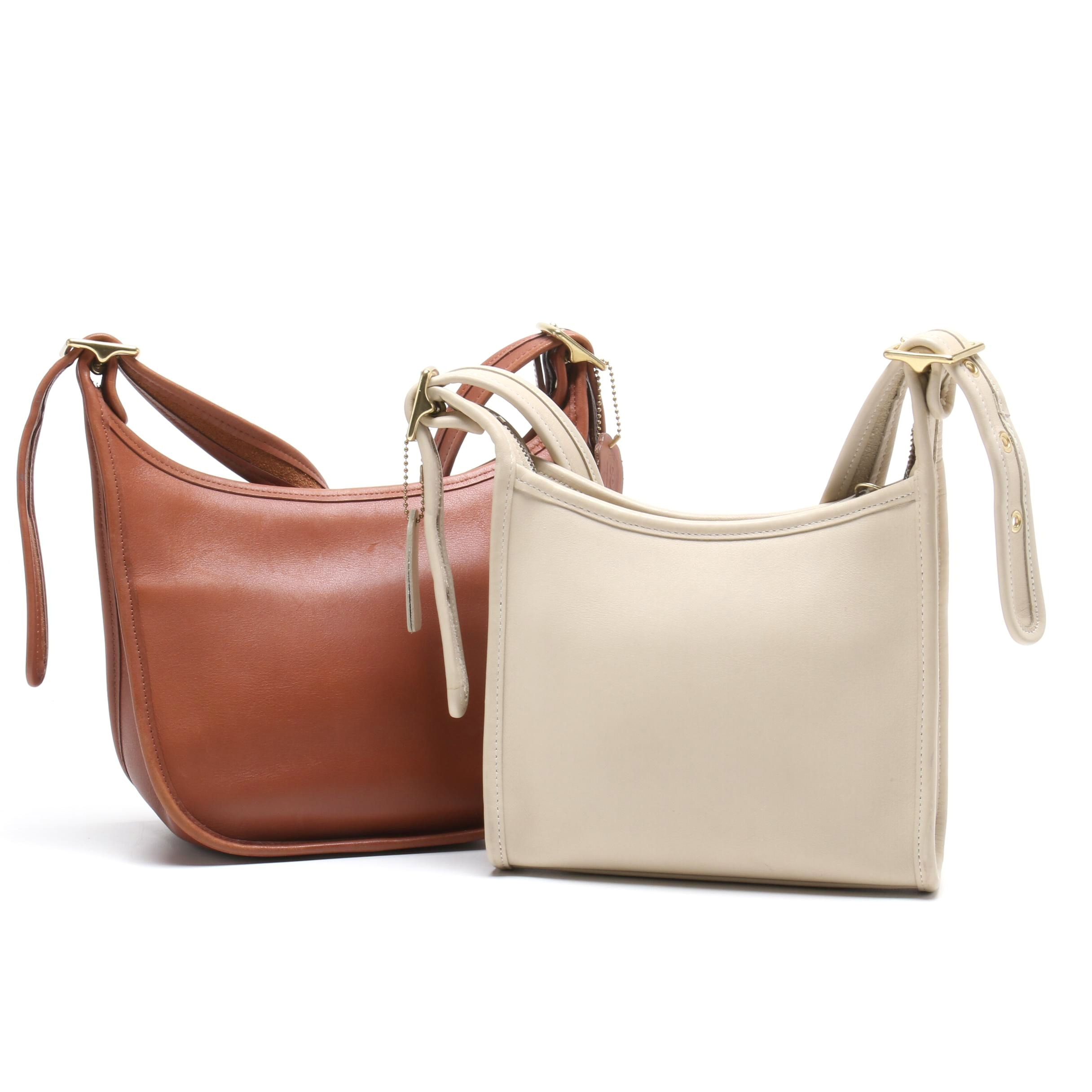 Coach Tan Legacy Leather Janice Shoulder Bag and Coach Bone Legacy Leather Bag