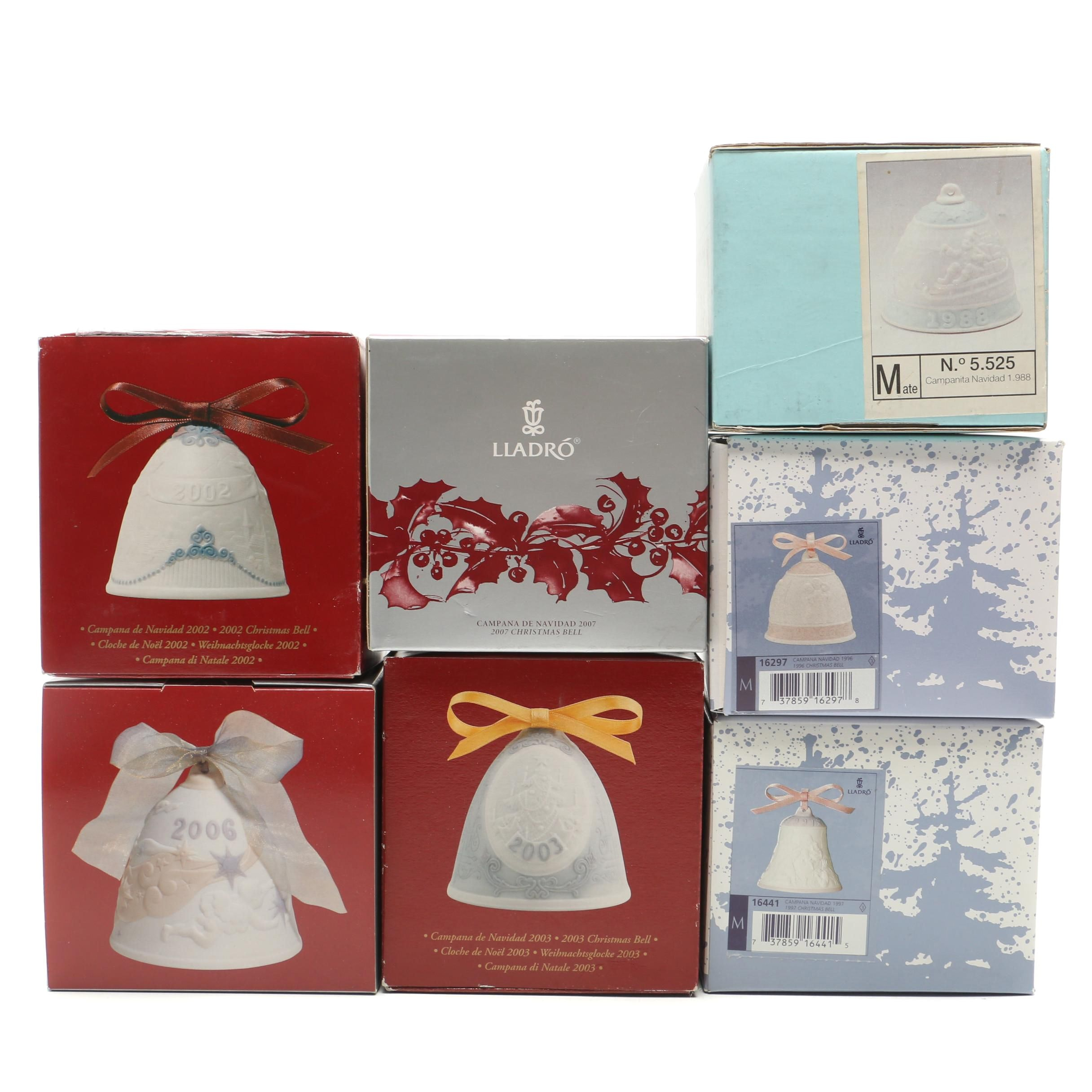 Collection of Lladro Ceramic Christmas Ornaments