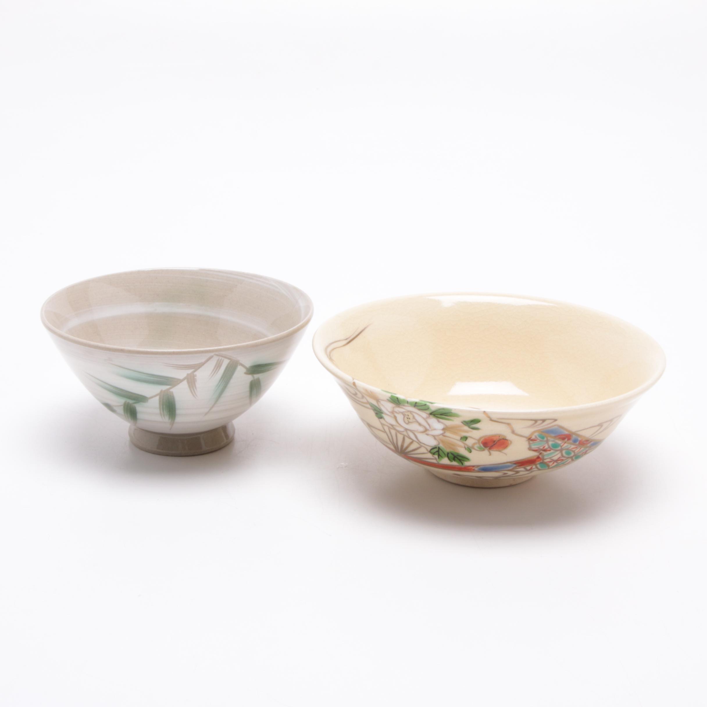 Japanese Otagiri and Studio Art Pottery Bowls