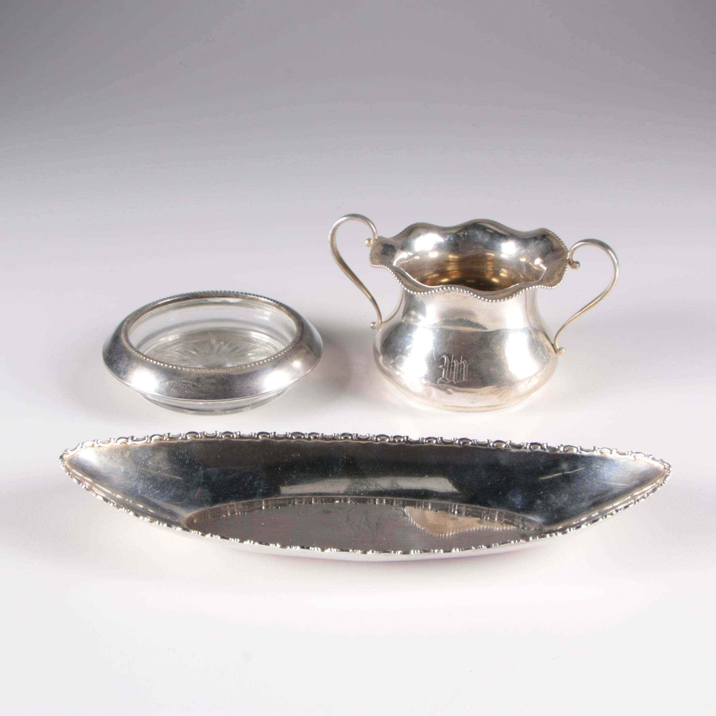 International Silver Co. Sterling Sugar Bowl and Other Sterling Tableware