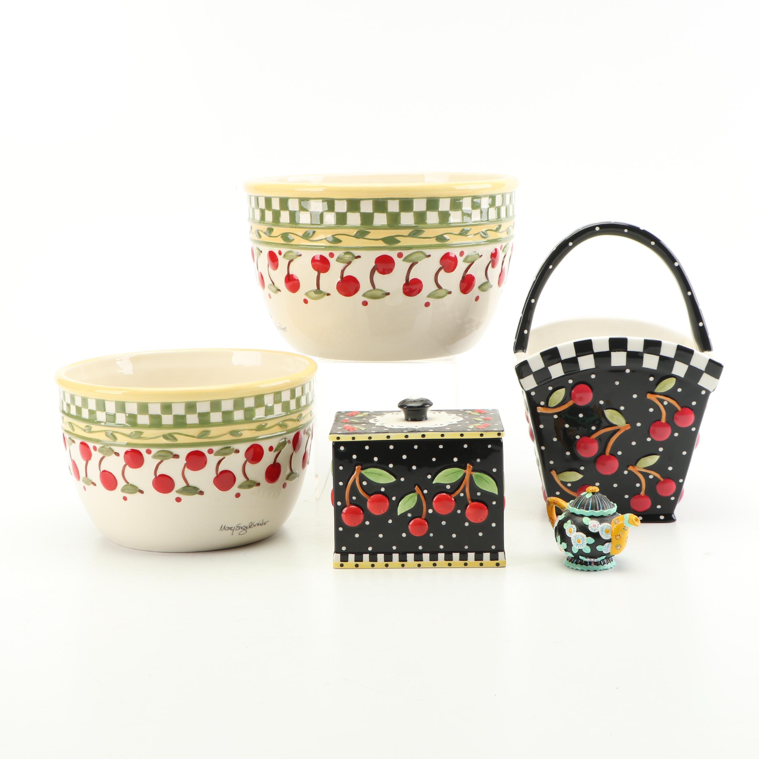 Mary Engelbreit Hand Painted Ceramic Serveware and Decor, 1998-2000