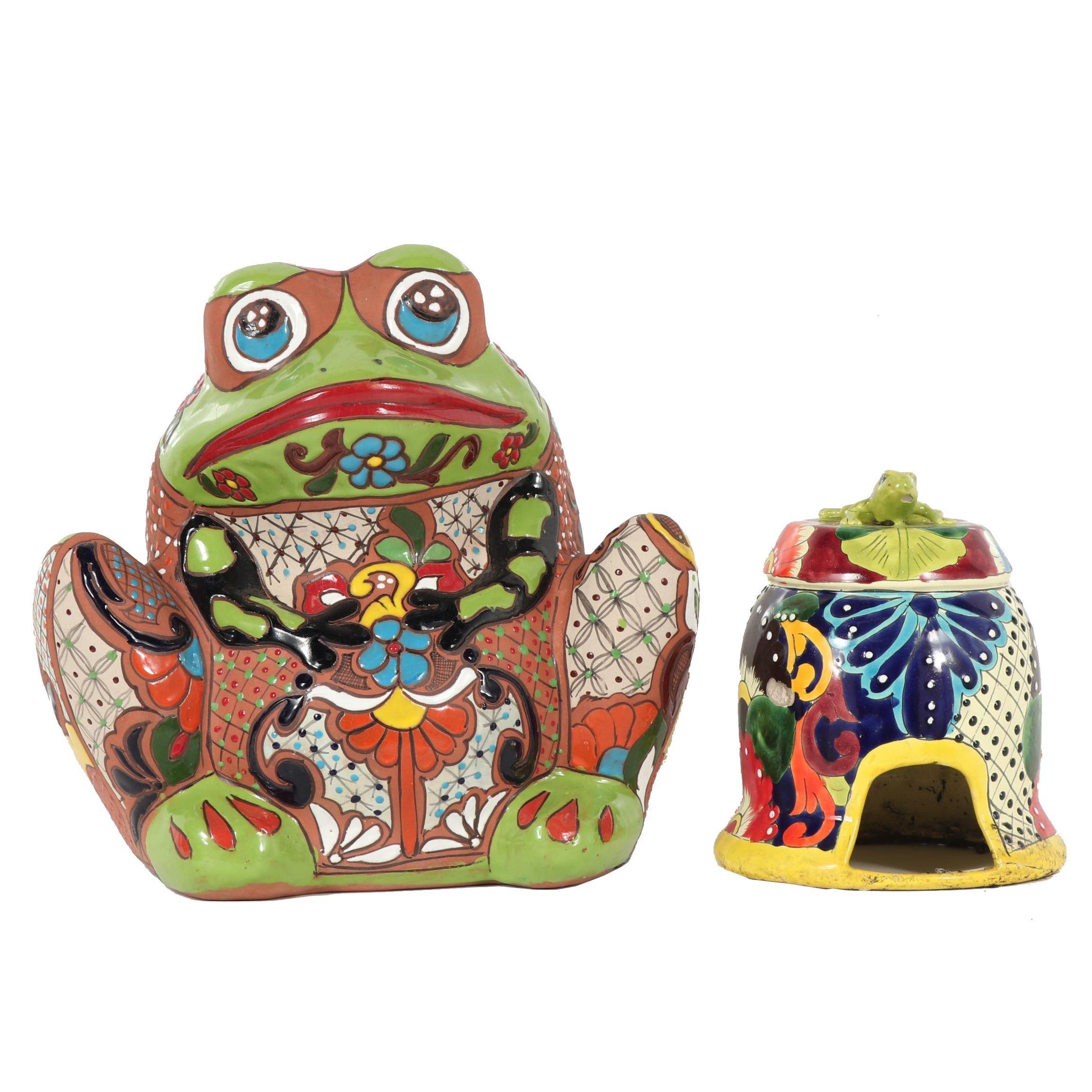 Ceramic Frog Planter and Lawn Decor