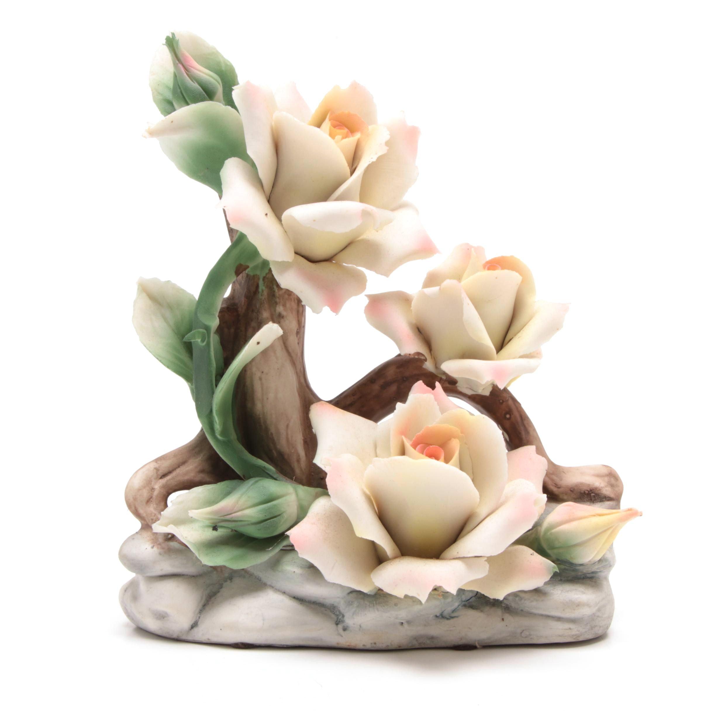 Capodimonte Porcelain Floral Decor