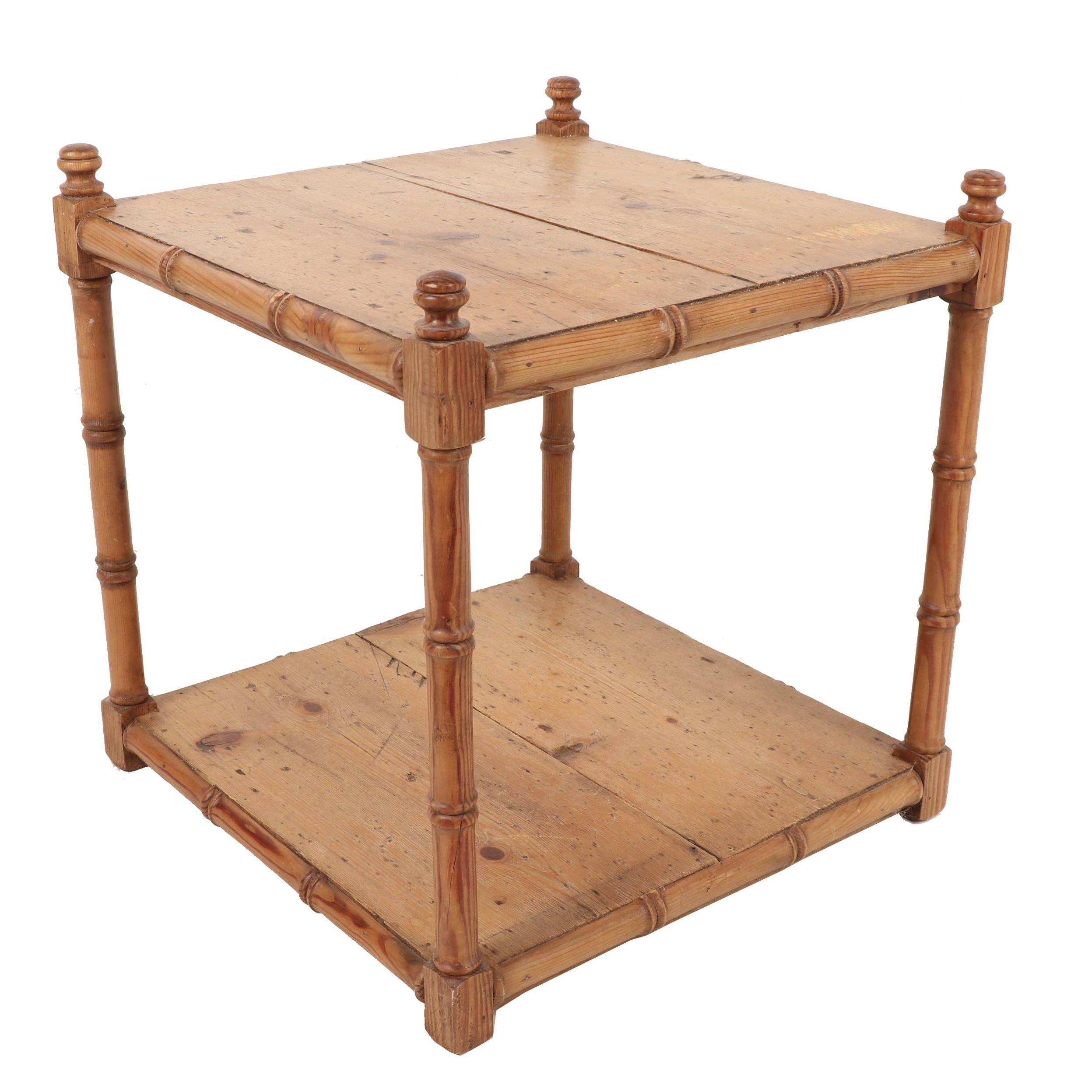 Pine End Table, 20th Century