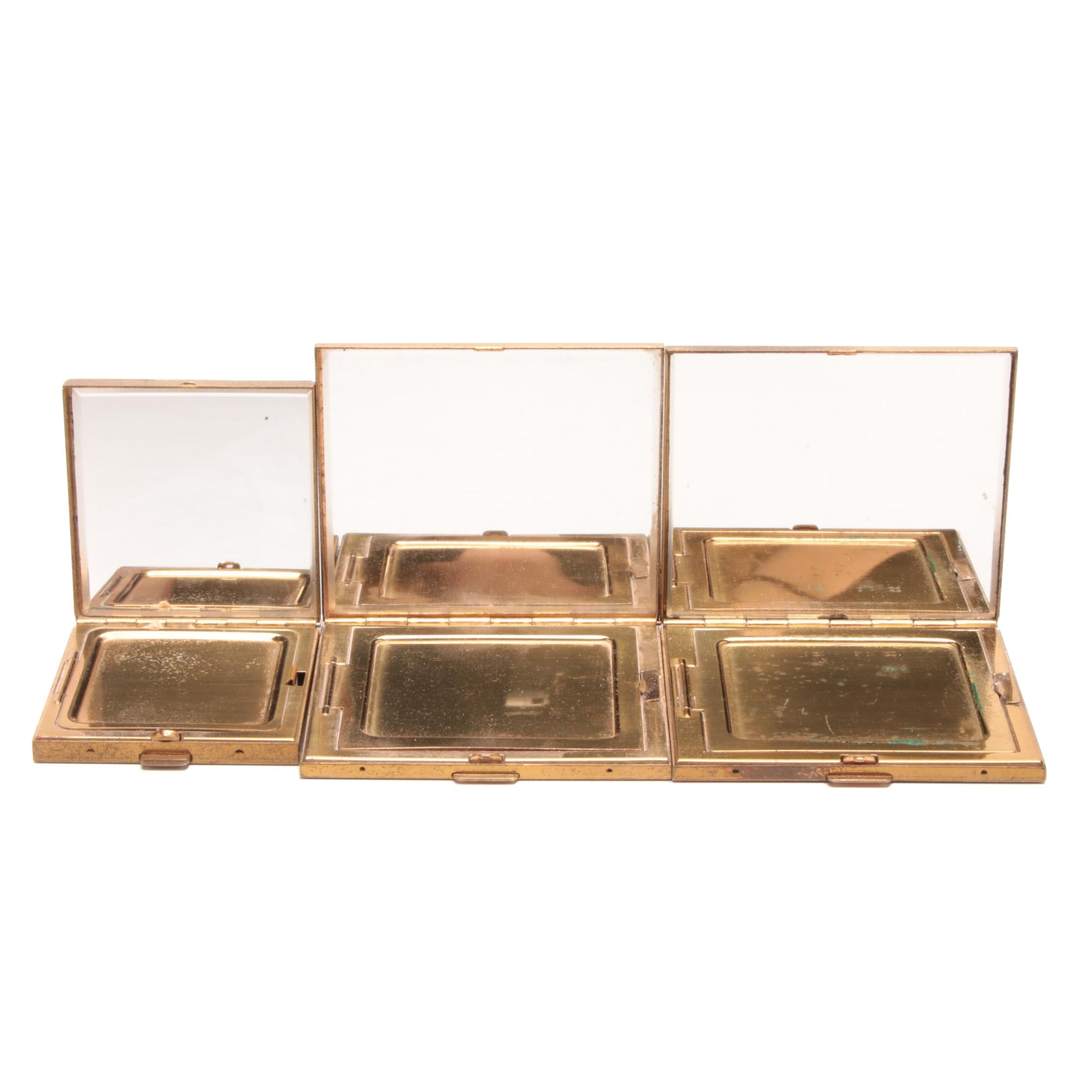 Mother of Pearl and Resin Compact Cases