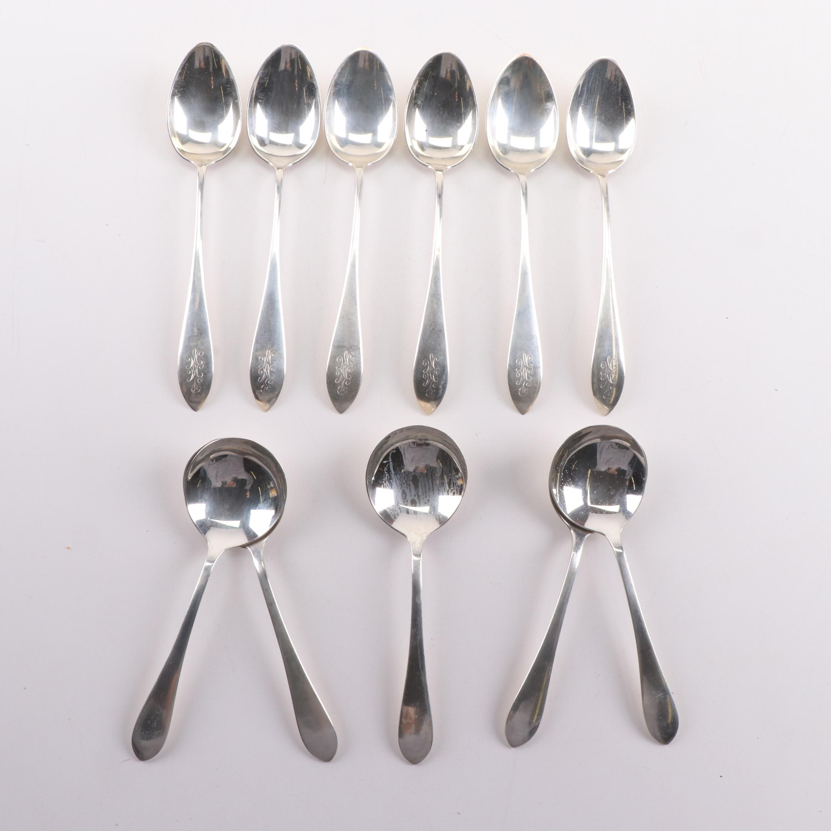 Sterling Silver Tablespoons and Soup Spoons including Gorham