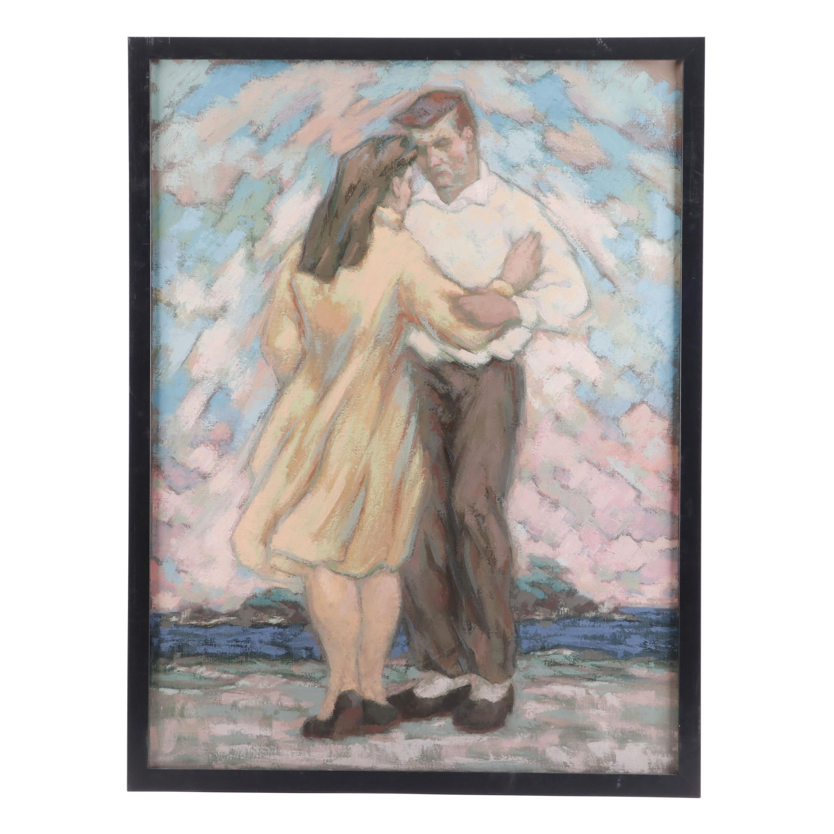 Oil Painting of a Dancing Couple